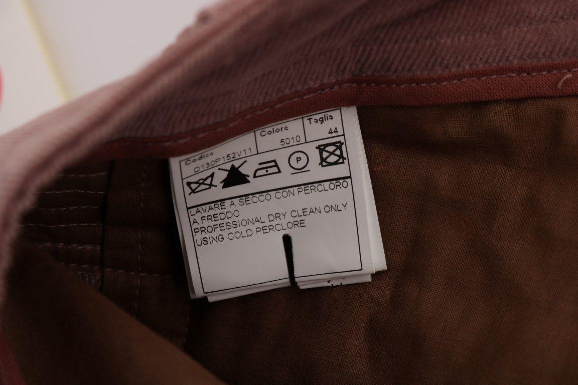 Ermanno Scervino Pink Velvet Cropped Casual Pants