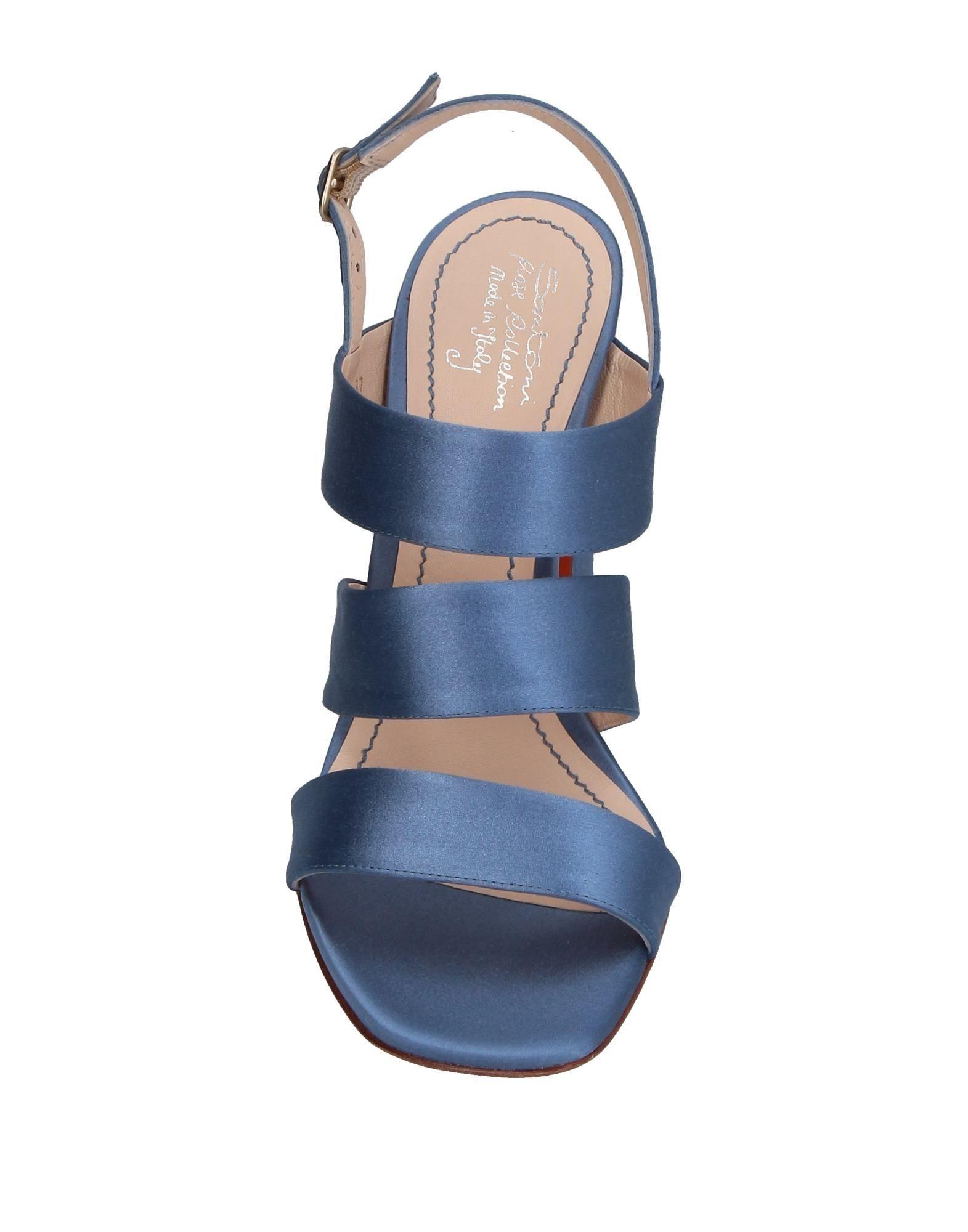 Santoni Slate Blue Sandals
