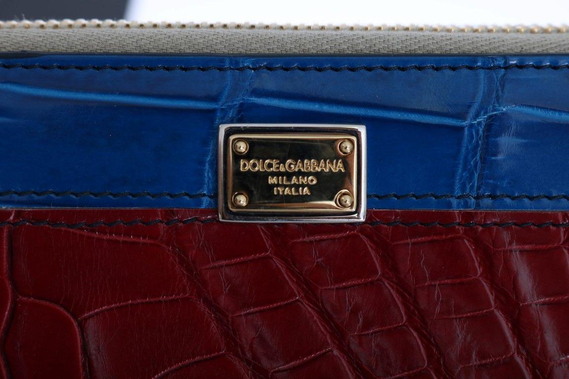 Dolce & Gabbana Multicolor Crocodile Leather Continental Wallet