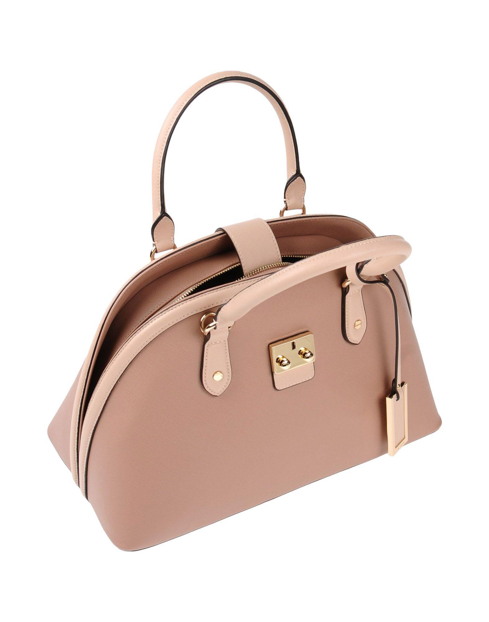 Nenette Pale Pink Faux Leather Top Handle Bag