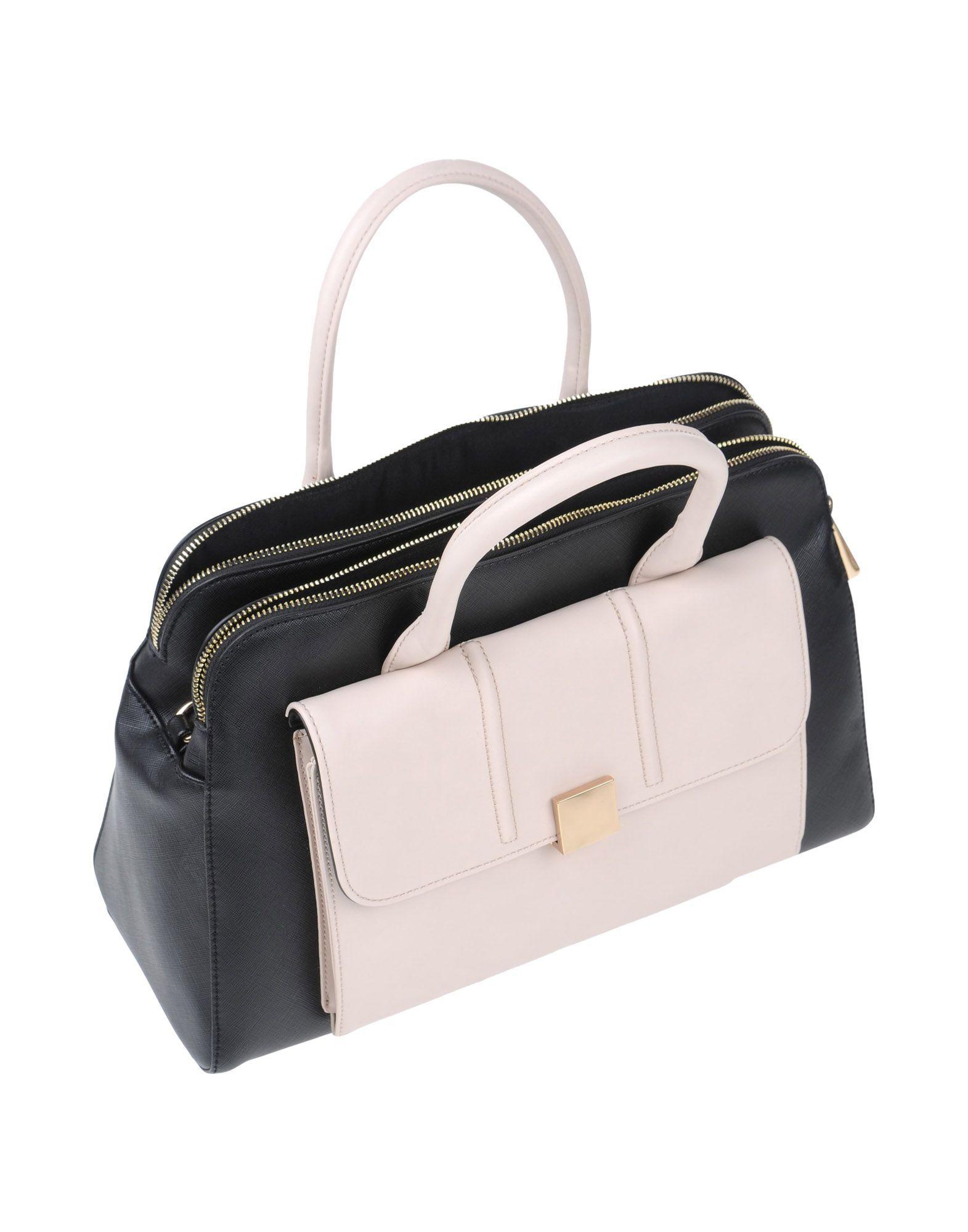 Nenette Black Colourblock Faux Leather Bowler Bag