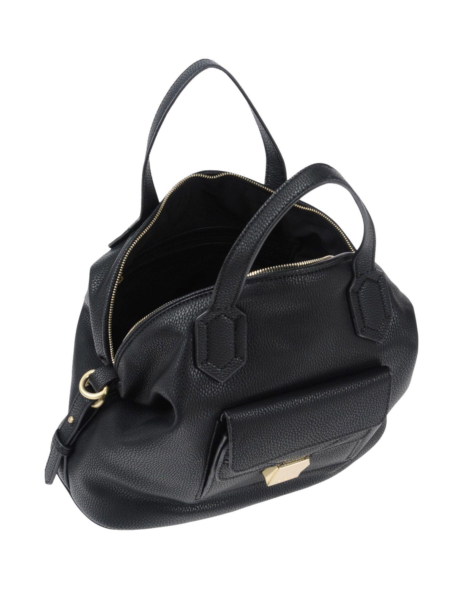 Nenette Black Faux Leather Bucket Bag