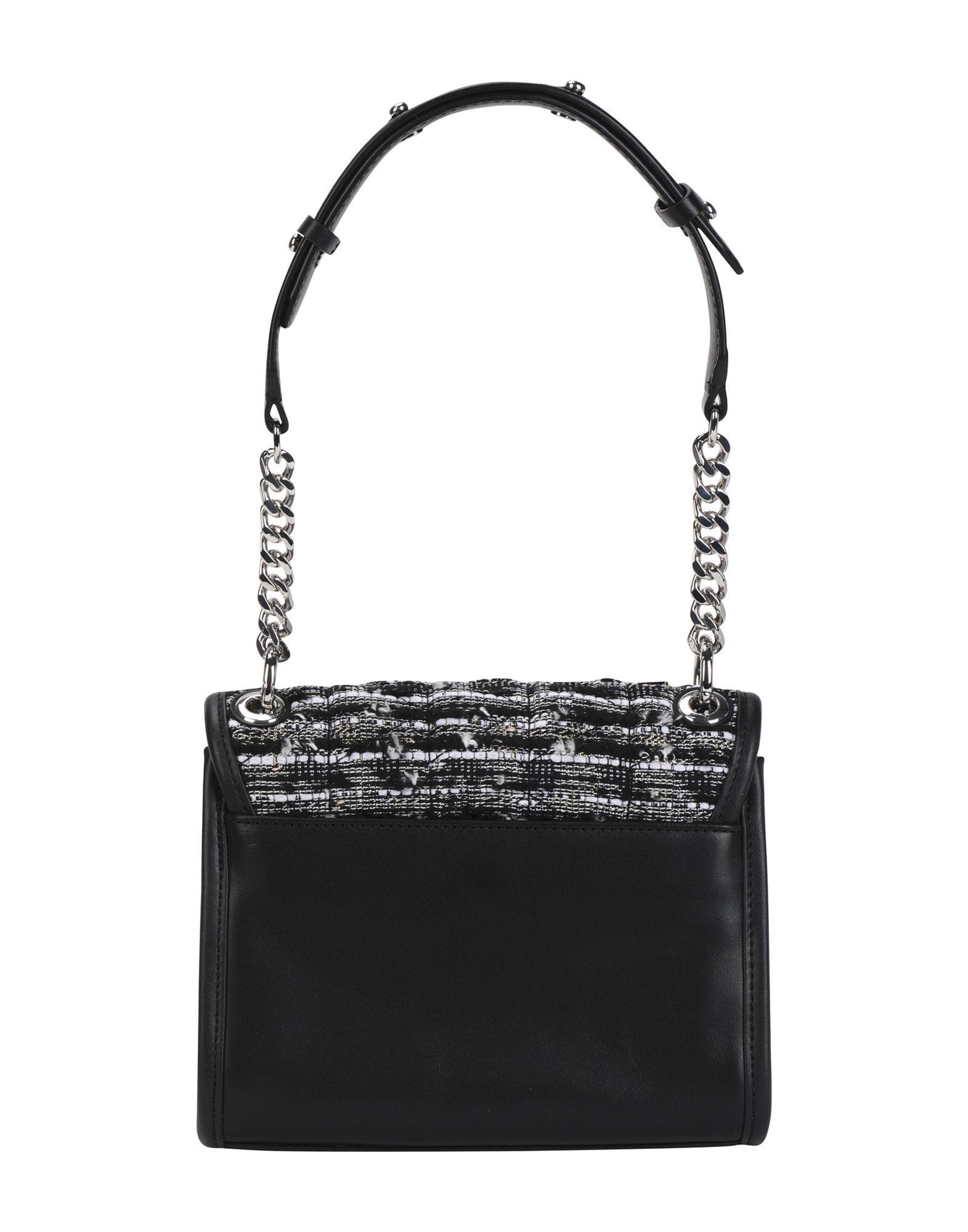 Karl Lagerfeld Black Leather Satchel Shoulder Bag