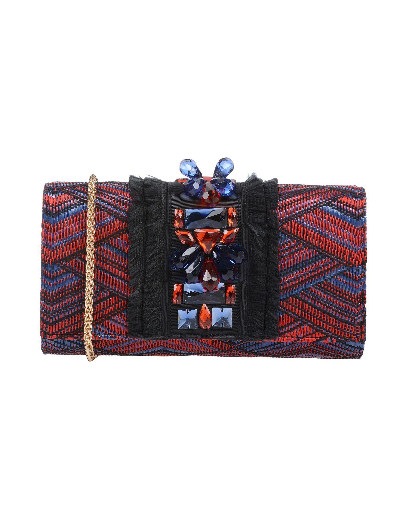 Nenette Red Tweed Clutch Bag