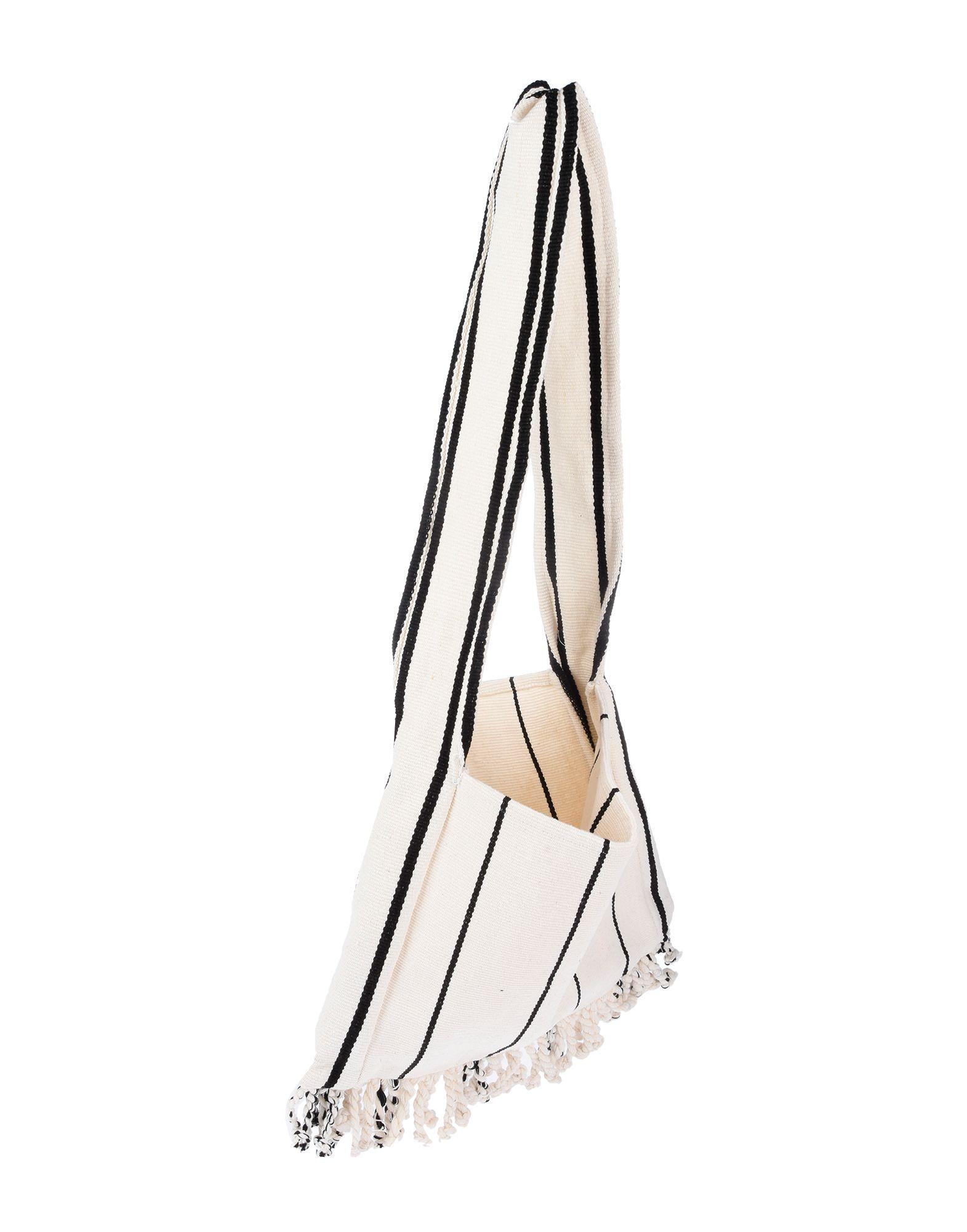 Pearl & Caviar Ivory Cotton Canvas Shopper Bag