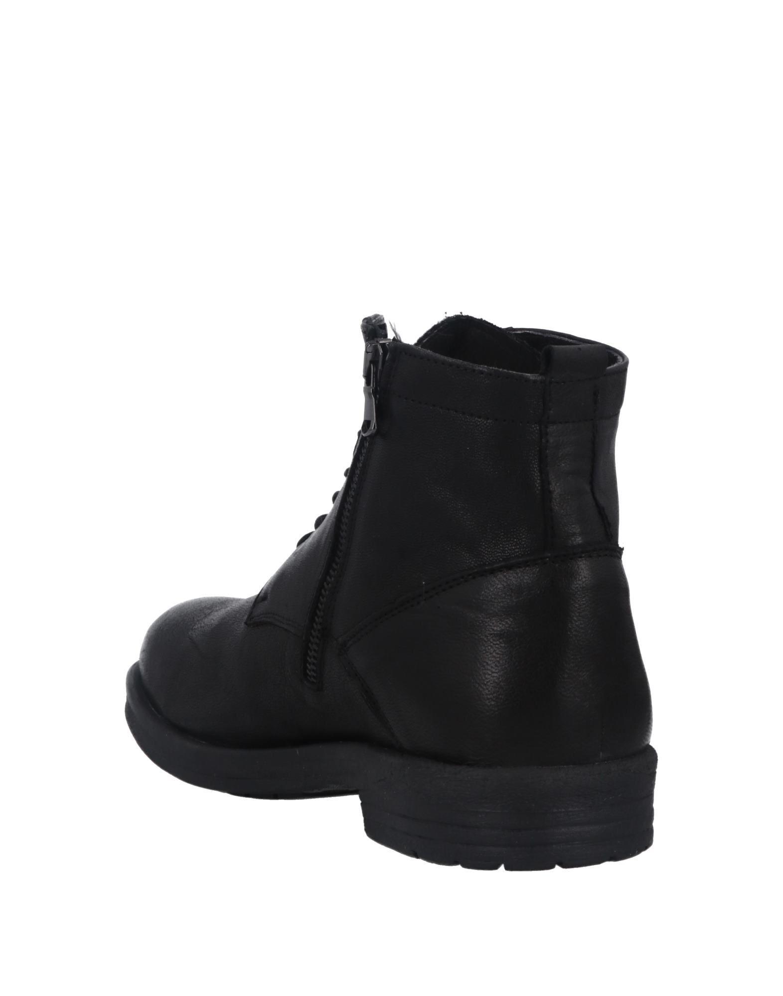 Cafènoir Man Ankle boots Black Leather