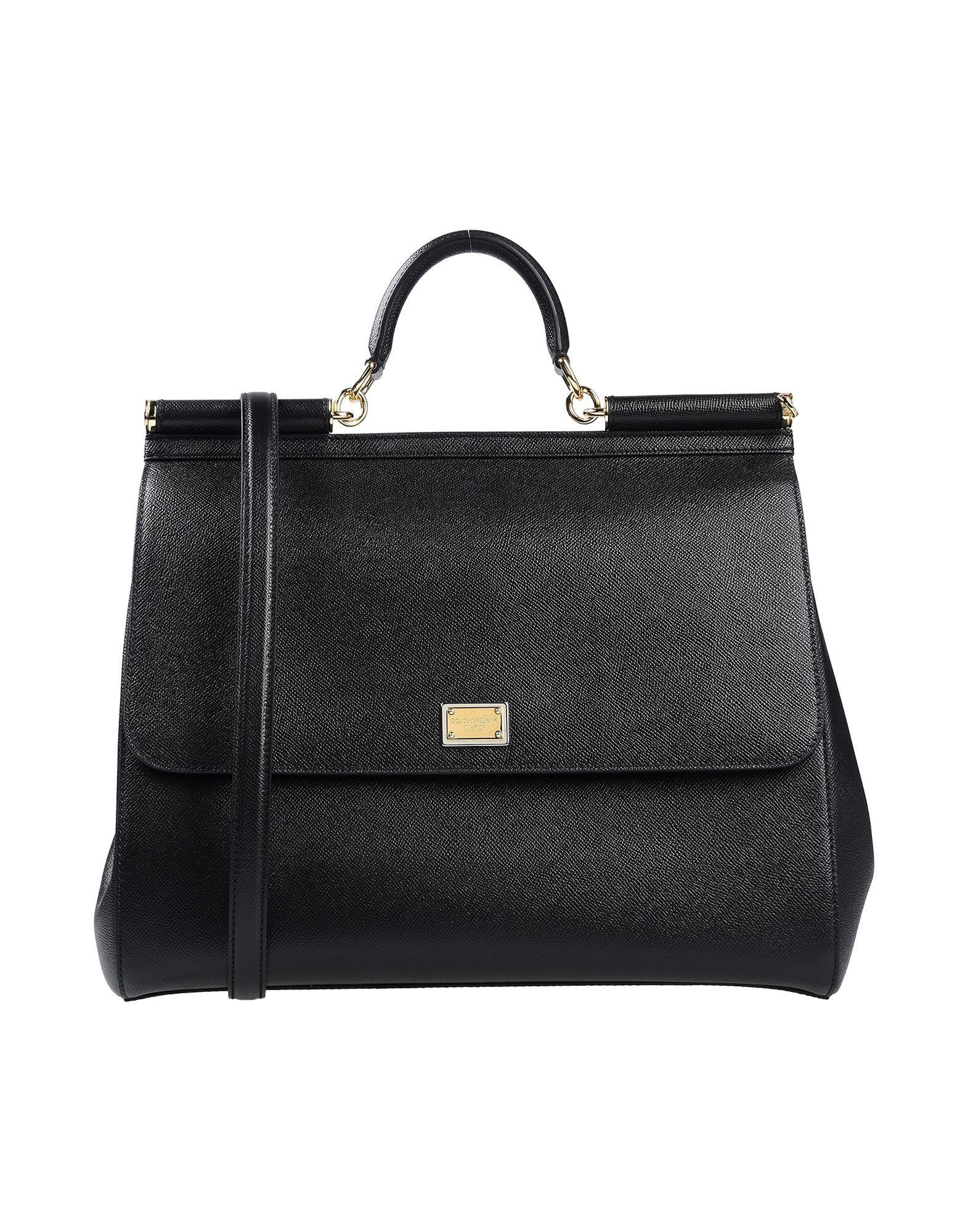 Dolce & Gabbana Black Calf Leather Top Handle Bag
