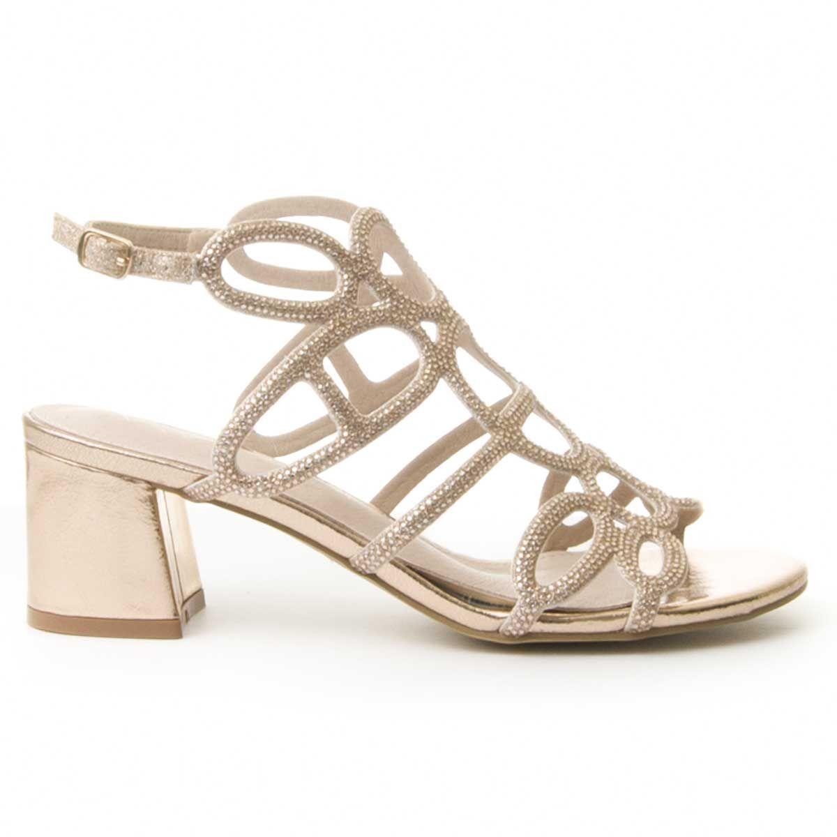 Montevita Block Heel Sandal in Pink