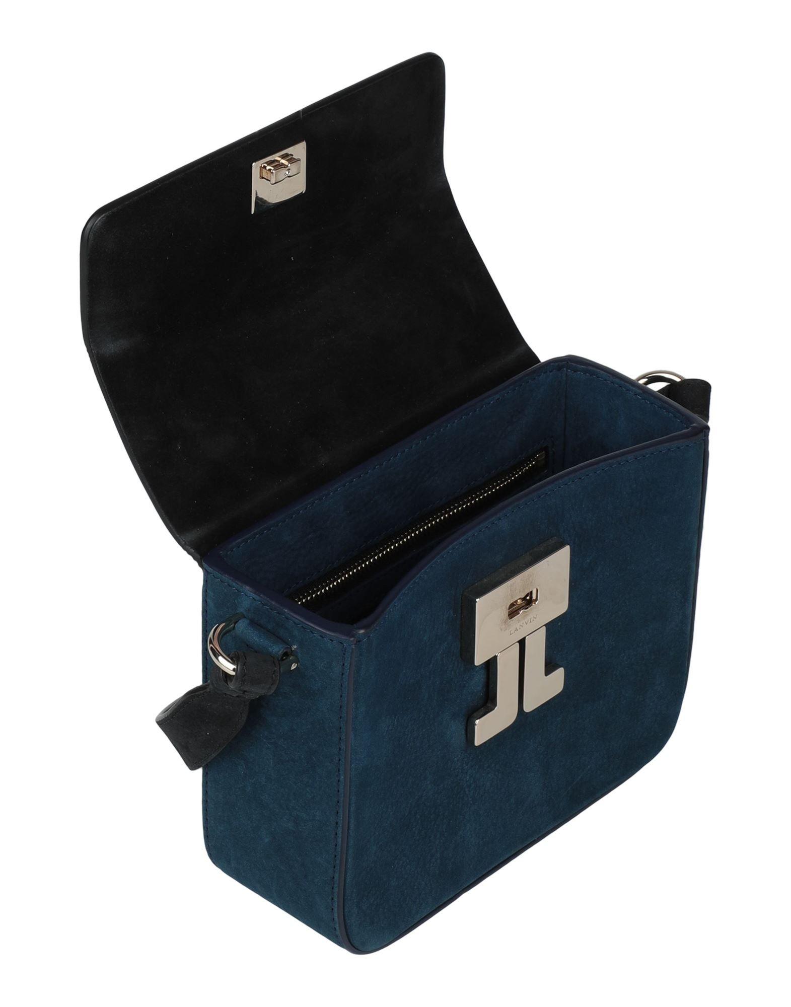 Lanvin Women's Cross-Body Bags Dark Blue Goat Skin