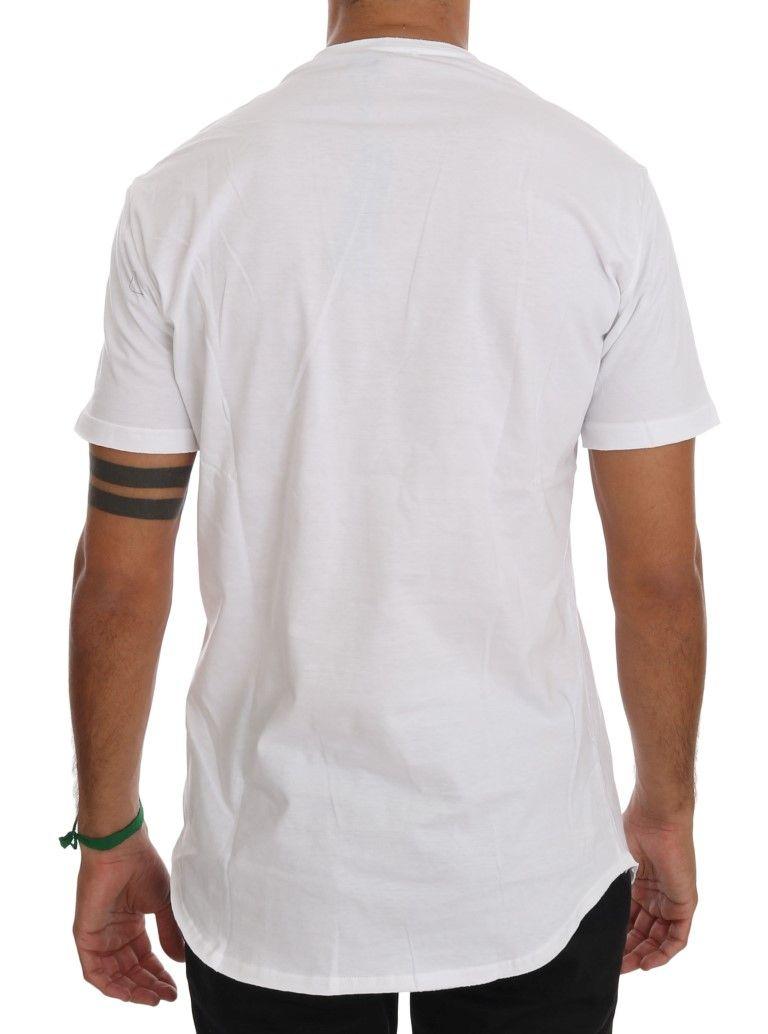 Daniele Alessandrini White Cotton V-neck T-Shirt