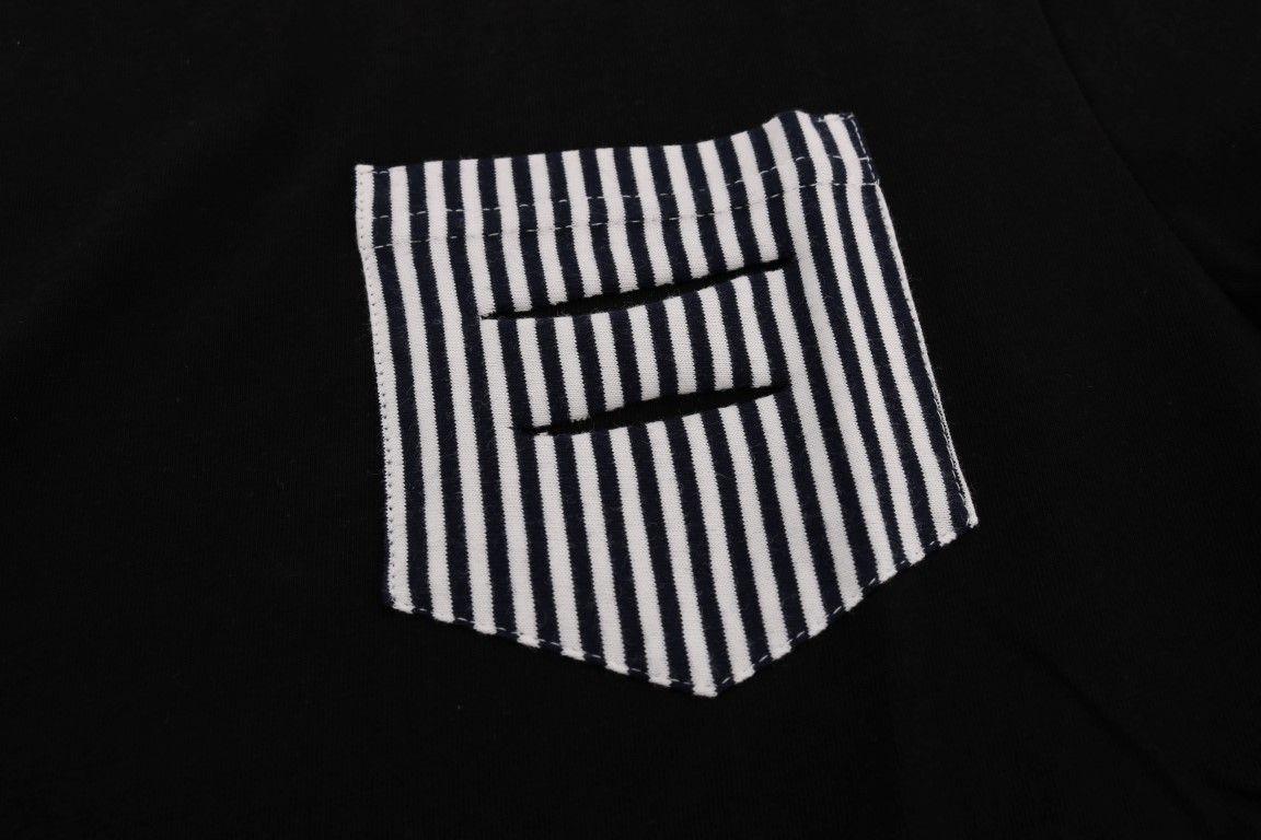 Daniele Alessandrini Black Cotton Crewneck T-Shirt