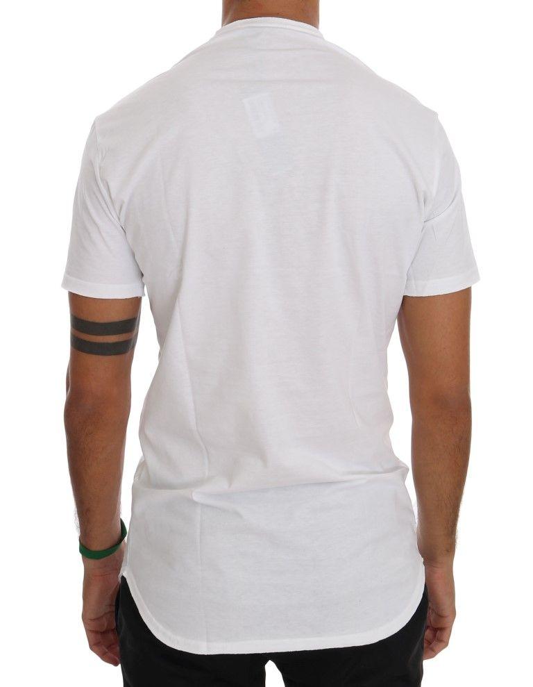 Daniele Alessandrini White Cotton Crewneck T-Shirt