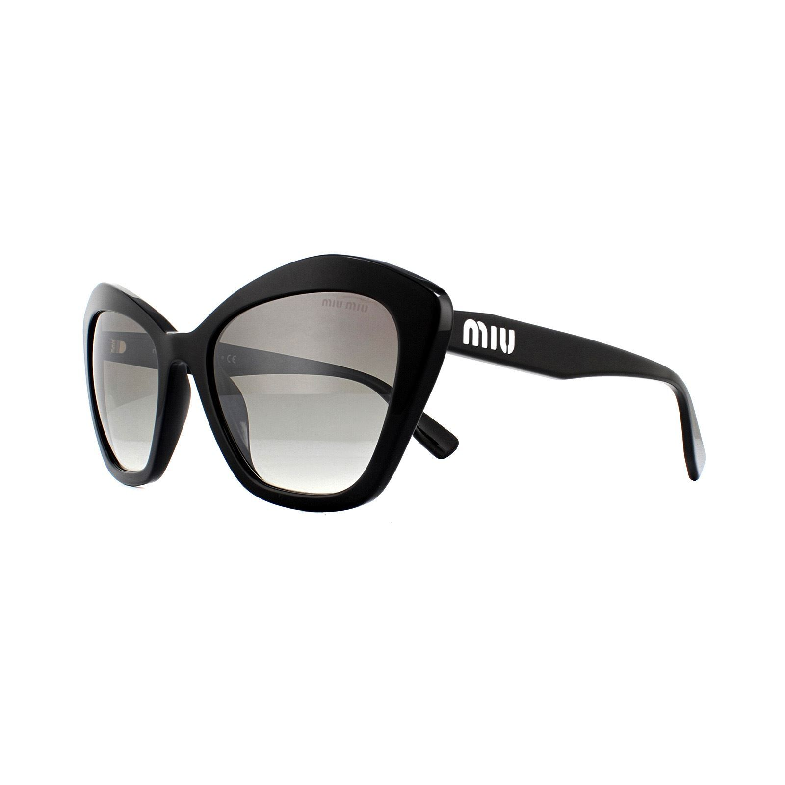 Miu Miu Sunglasses MU05US 1AB5O0 Black Gradient Grey Mirror Silver