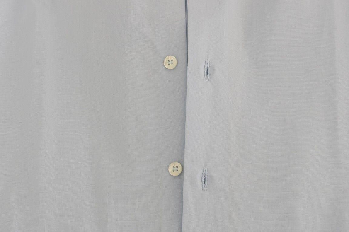 Cavalli Light Blue Stretch Slim Fit Dress Shirt