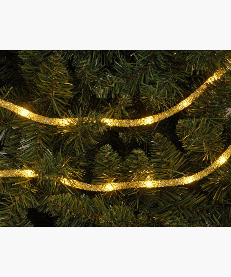 Gold-tone dewdrop glitter tube light