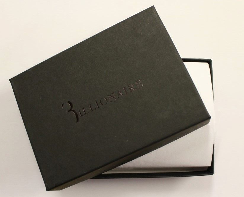Billionaire Italian Couture Brown Leather Bifold Wallet