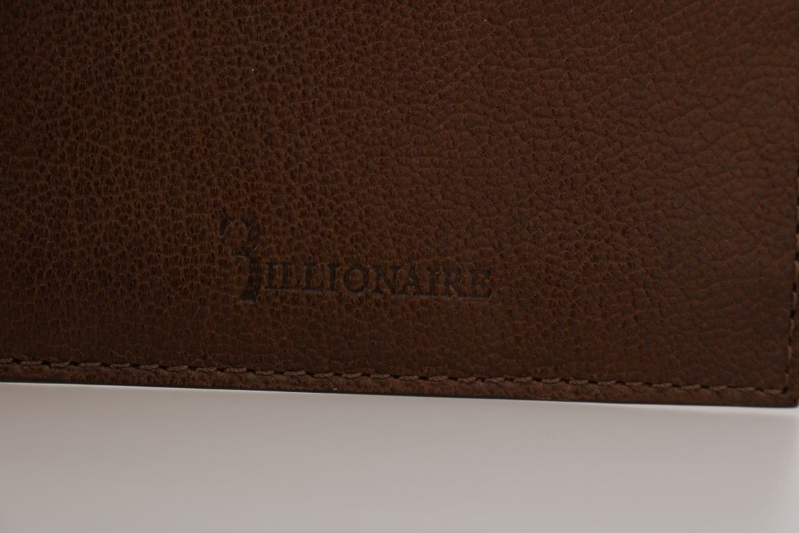 Billionaire Italian Couture Brown Leather Cardholder Wallet