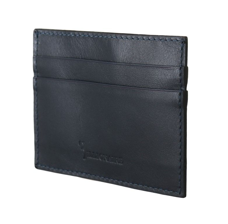 Billionaire Italian Couture Blue Leather Cardholder Wallet