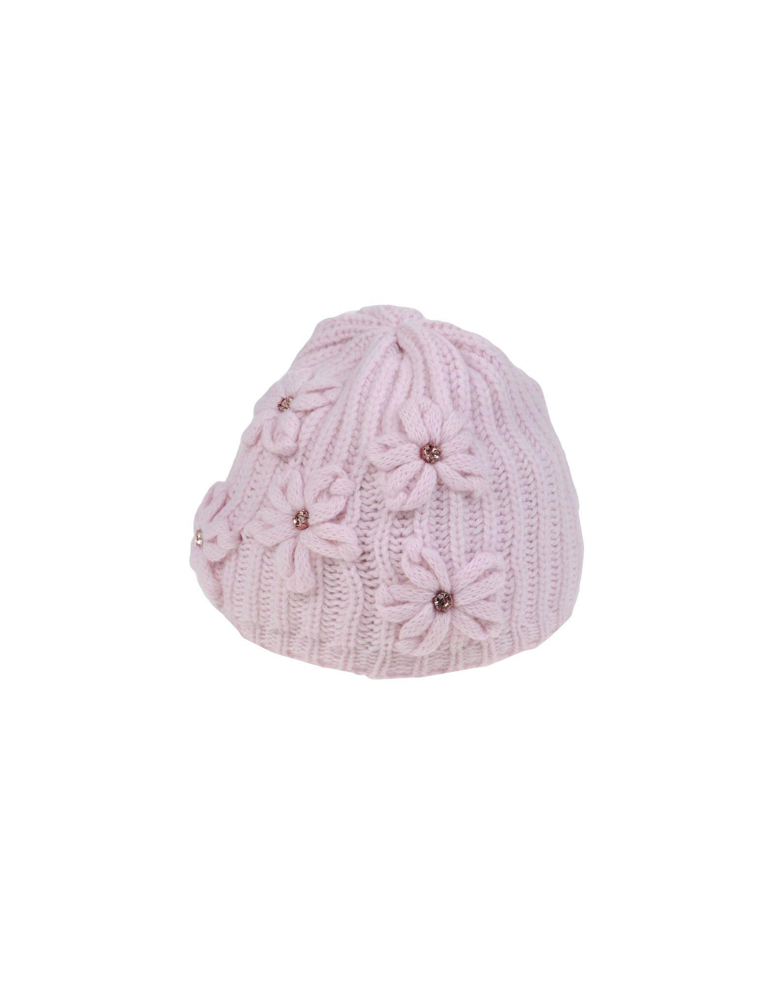 Aletta Pink Girls' Wool Beanie