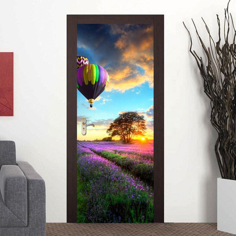 Provence Lavender Self-Adhesive Stickers Door Mural 88cm x 200cm European Size