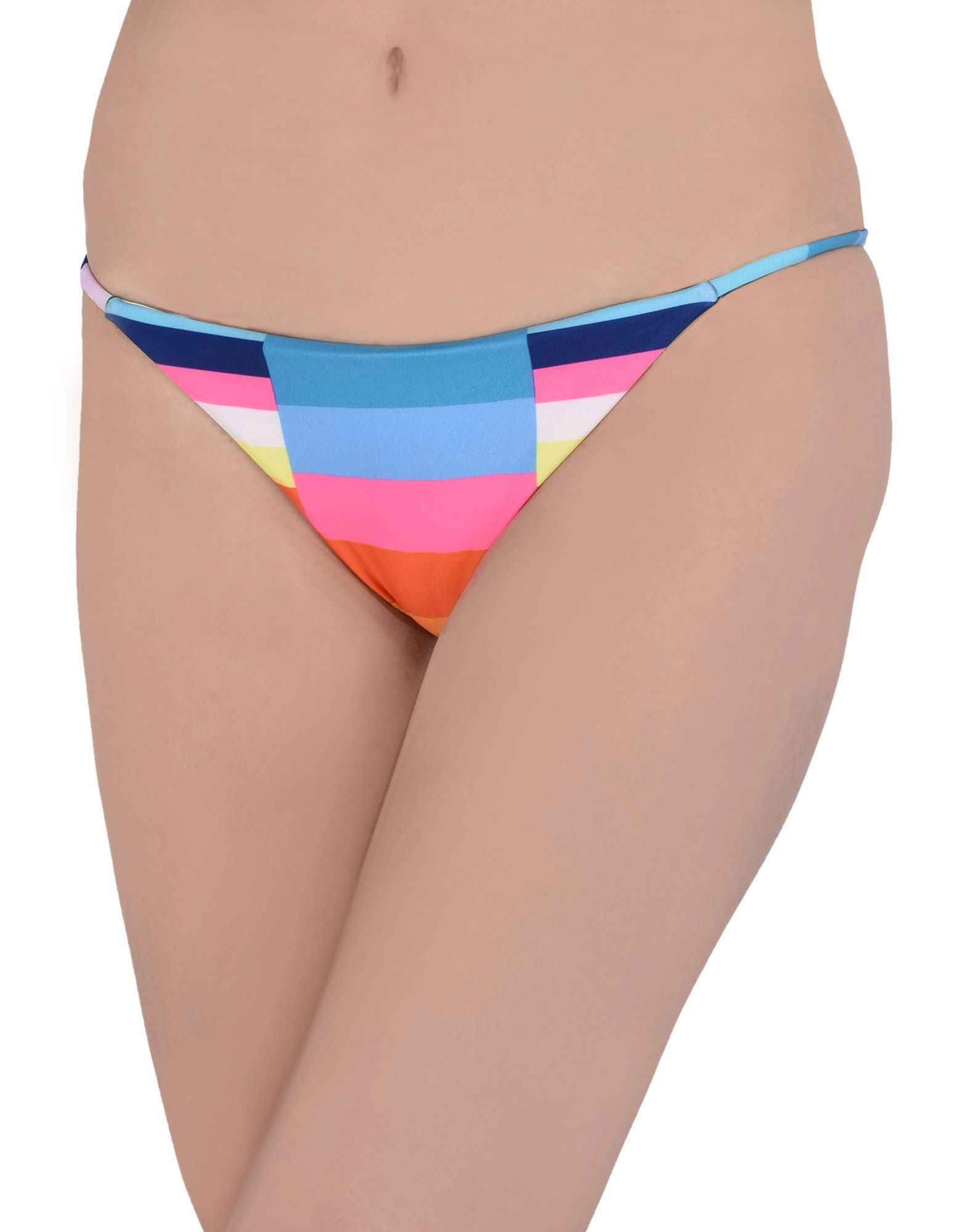 Mara Hoffman Sky Blue Stripe Recycled Polyester Bikini Bottoms