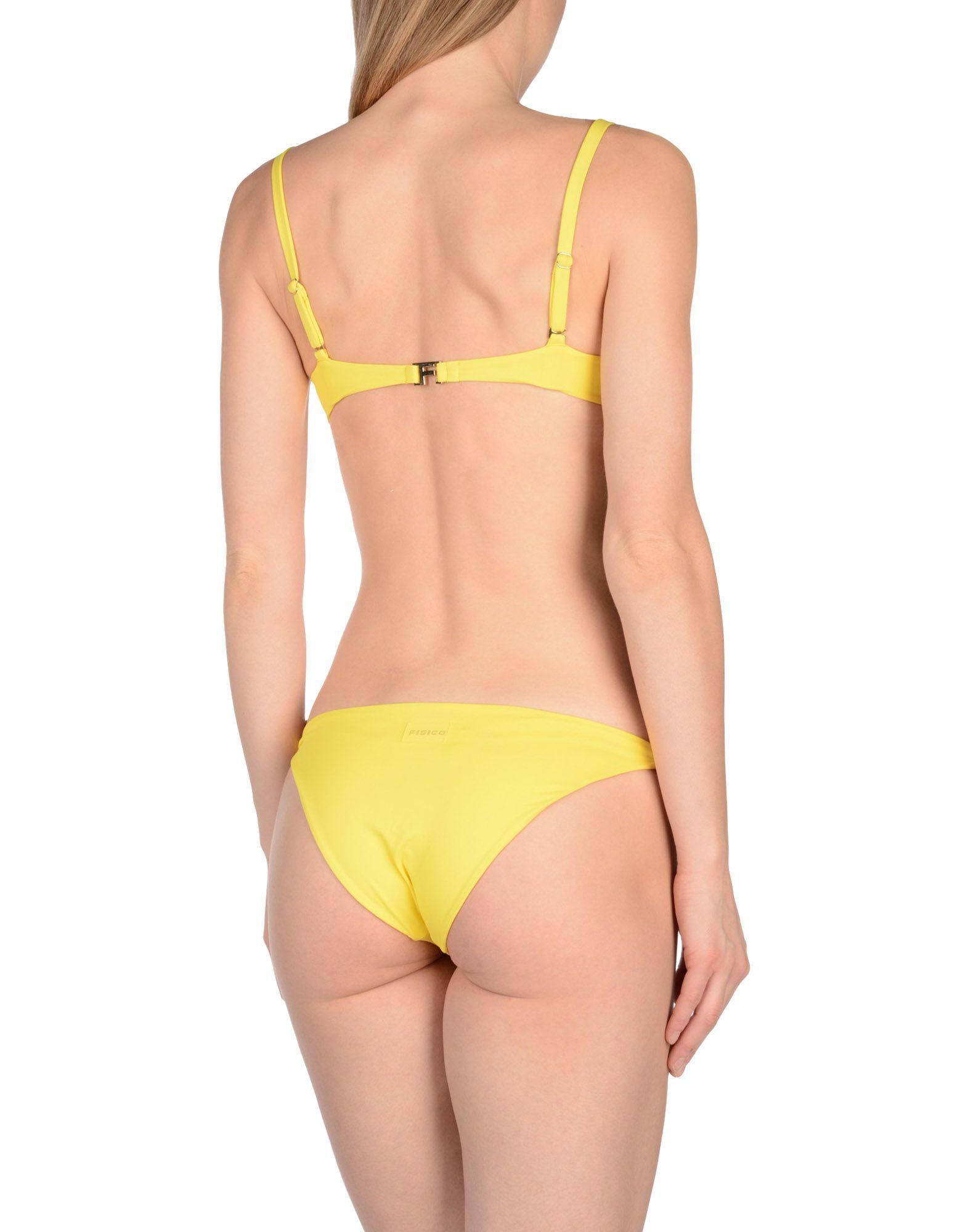 SWIMWEAR Fisico Yellow Woman Polyamid