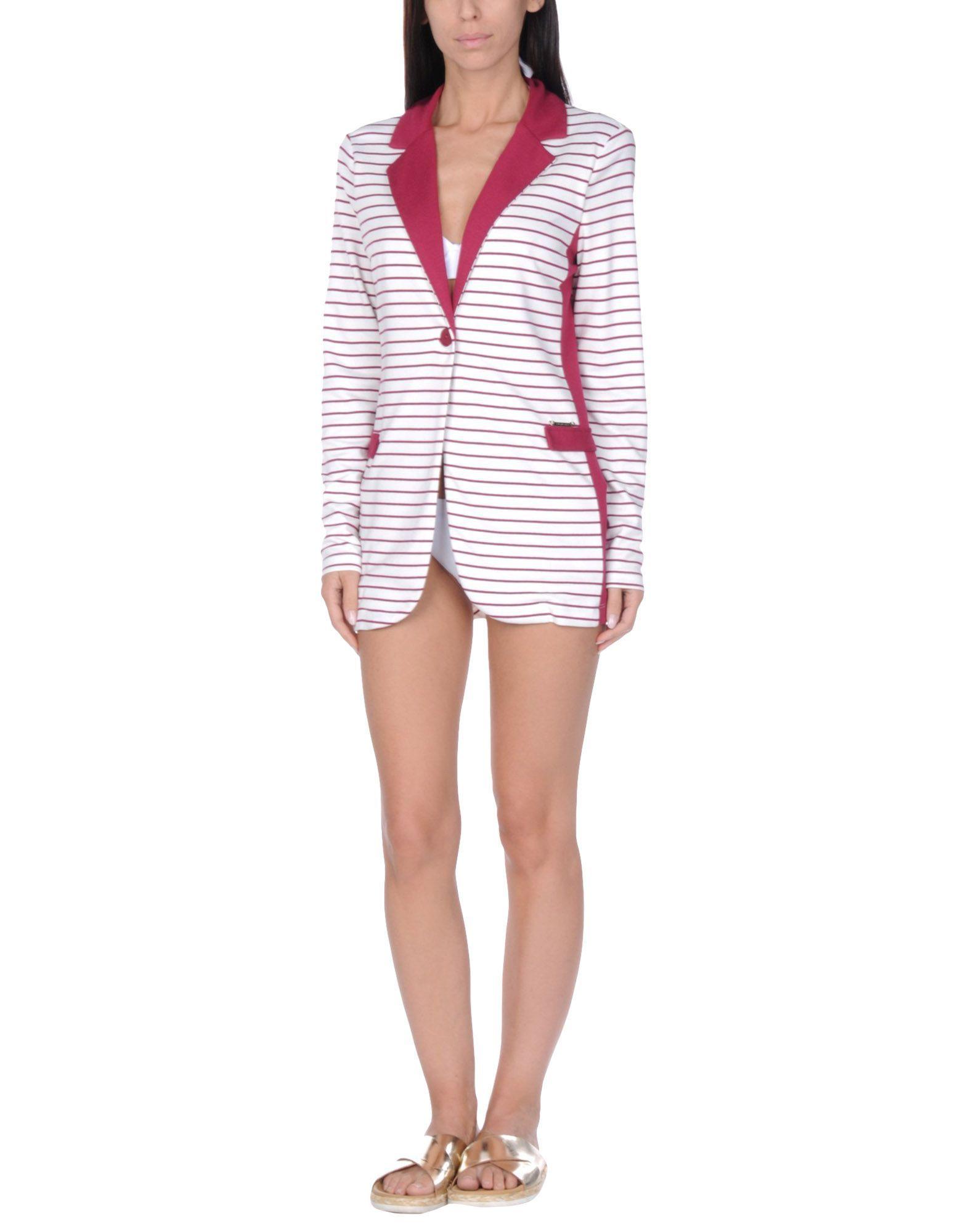 Twinset Maroon Stripe Jersey Jacket
