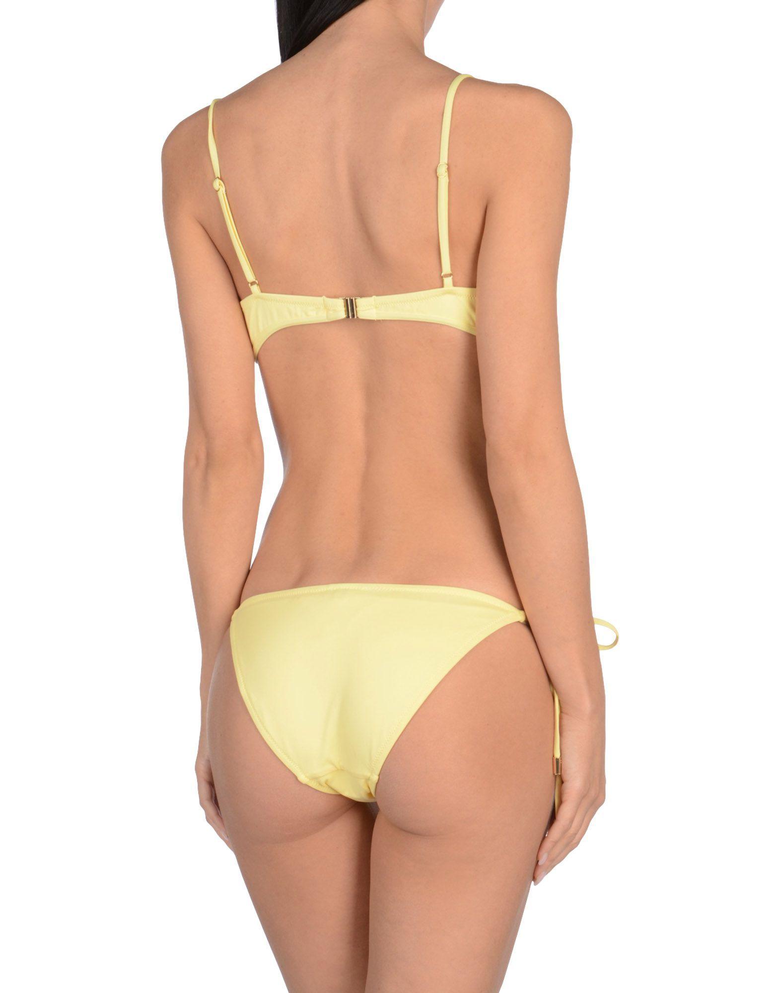 Melissa Odabash Yellow Triangle Bikini Set