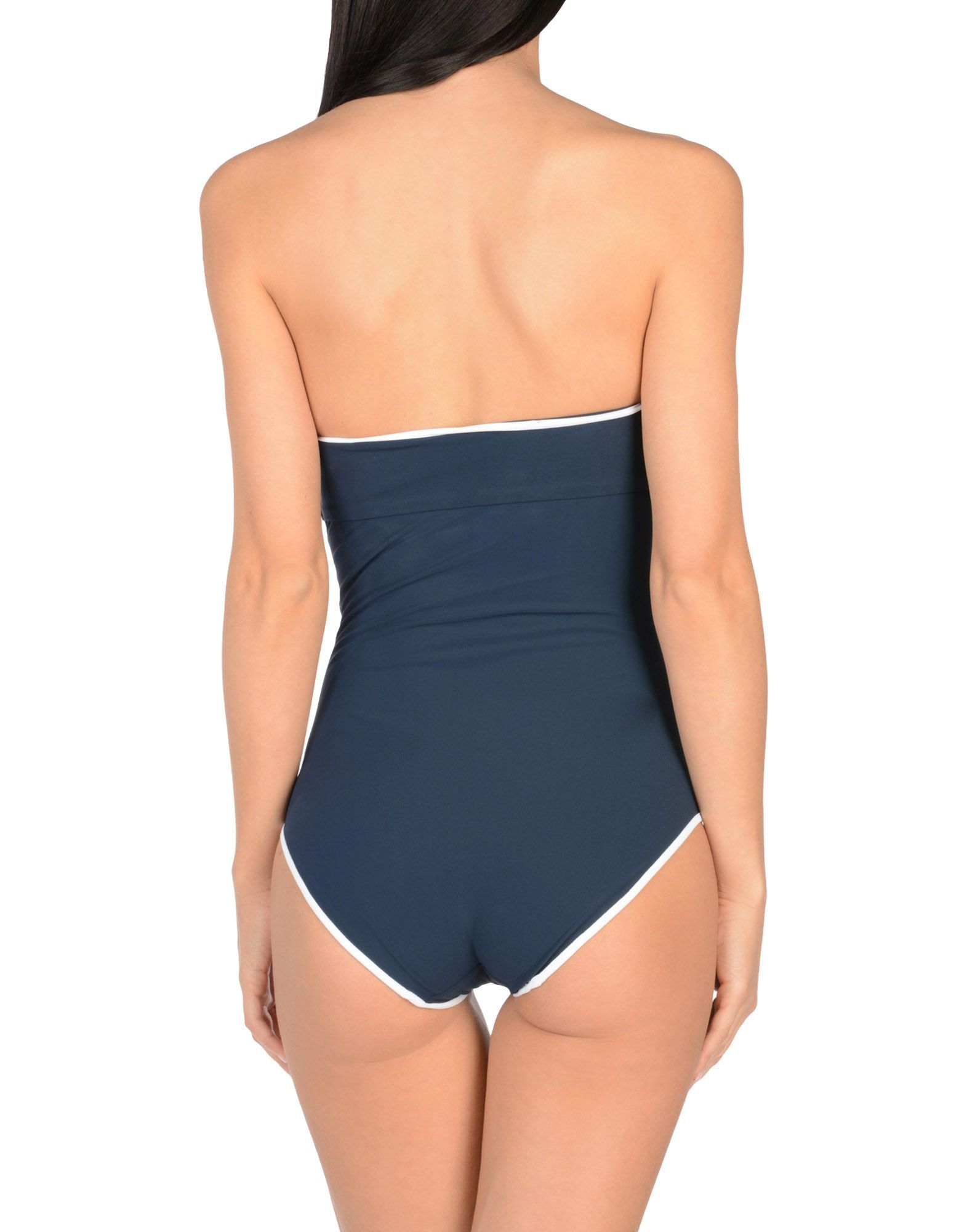 Gentryportofino Dark Blue Bandeau Swimsuit