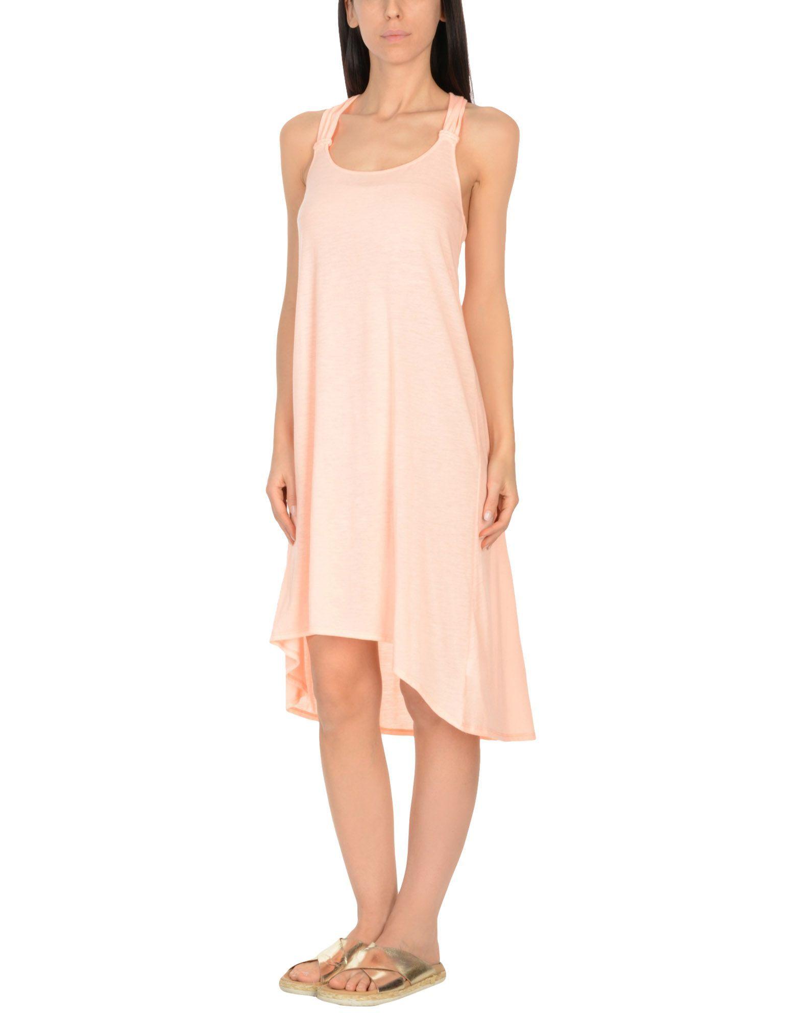 Heidi Klein Salmon Pink Jersey Beach Dress
