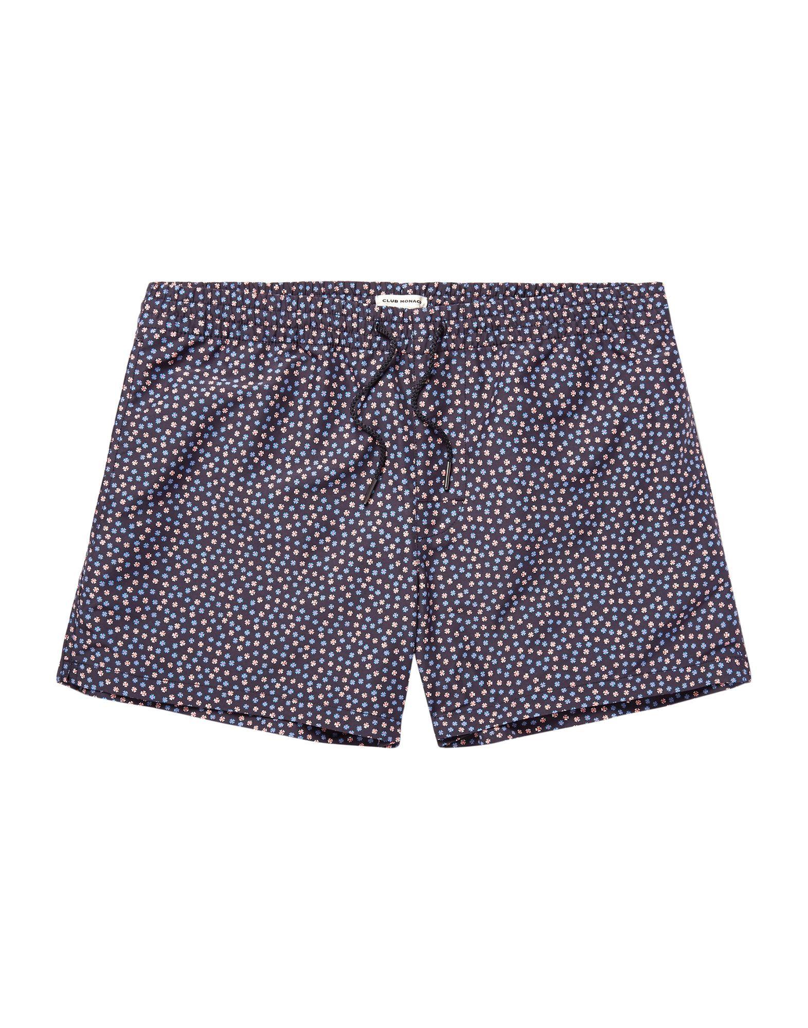 Club Monaco Dark Blue Print Swim Shorts