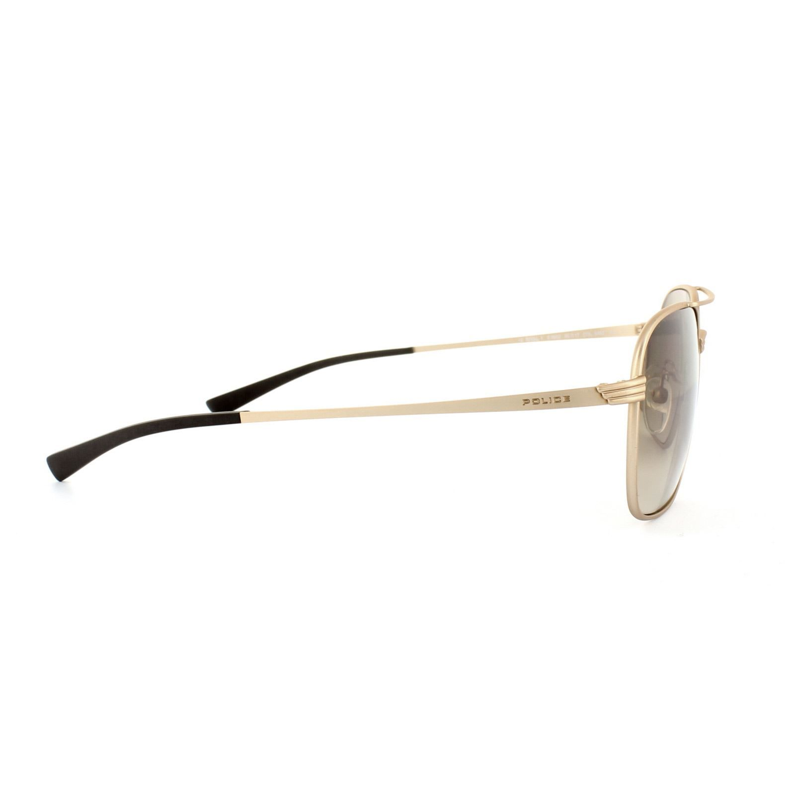 Police Sunglasses S8952 Rival 1 648X Polished Gold Brown Gradient