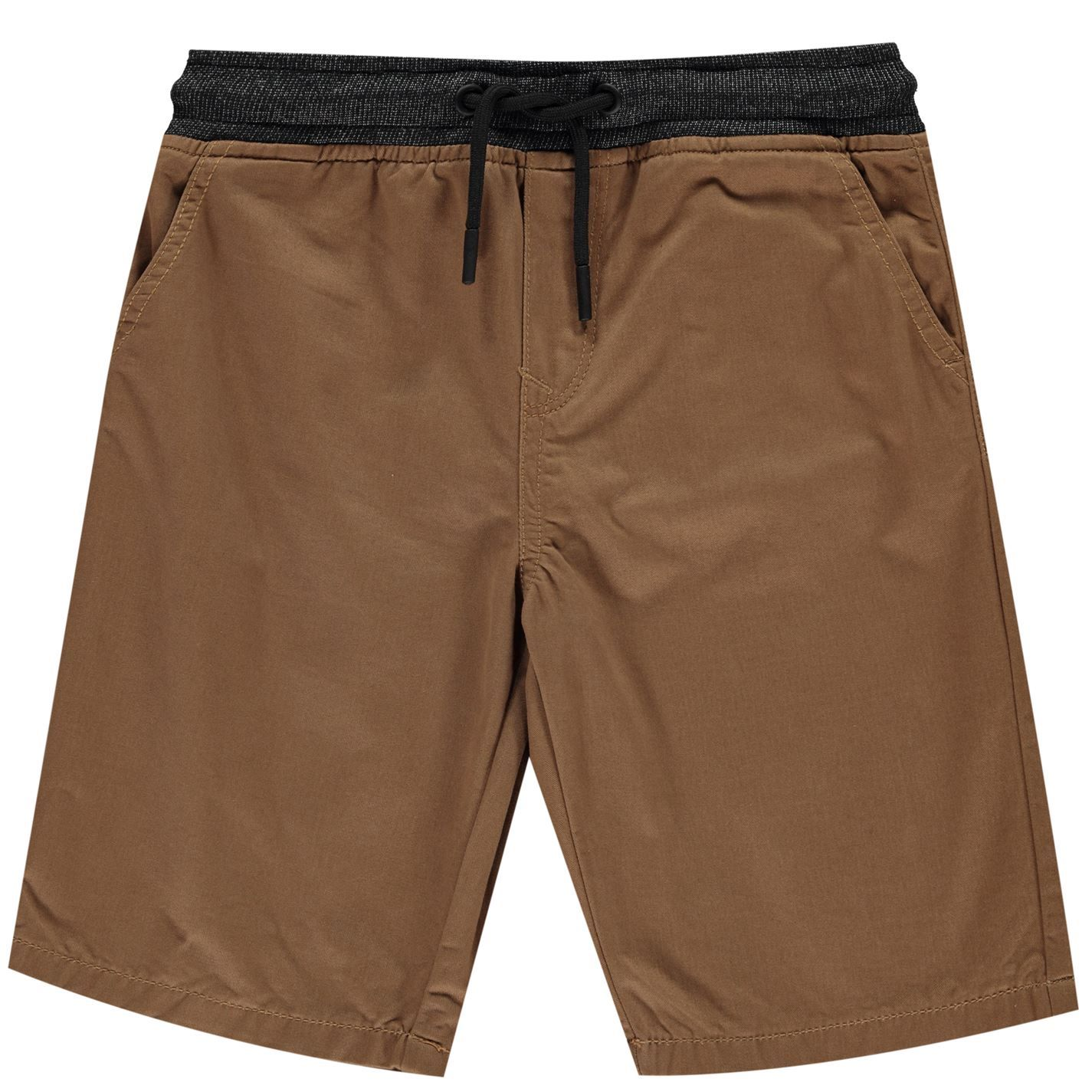 No Fear Boys Chino Shorts Junior Lightweight Drawstring 4 Pockets Casual Bottom
