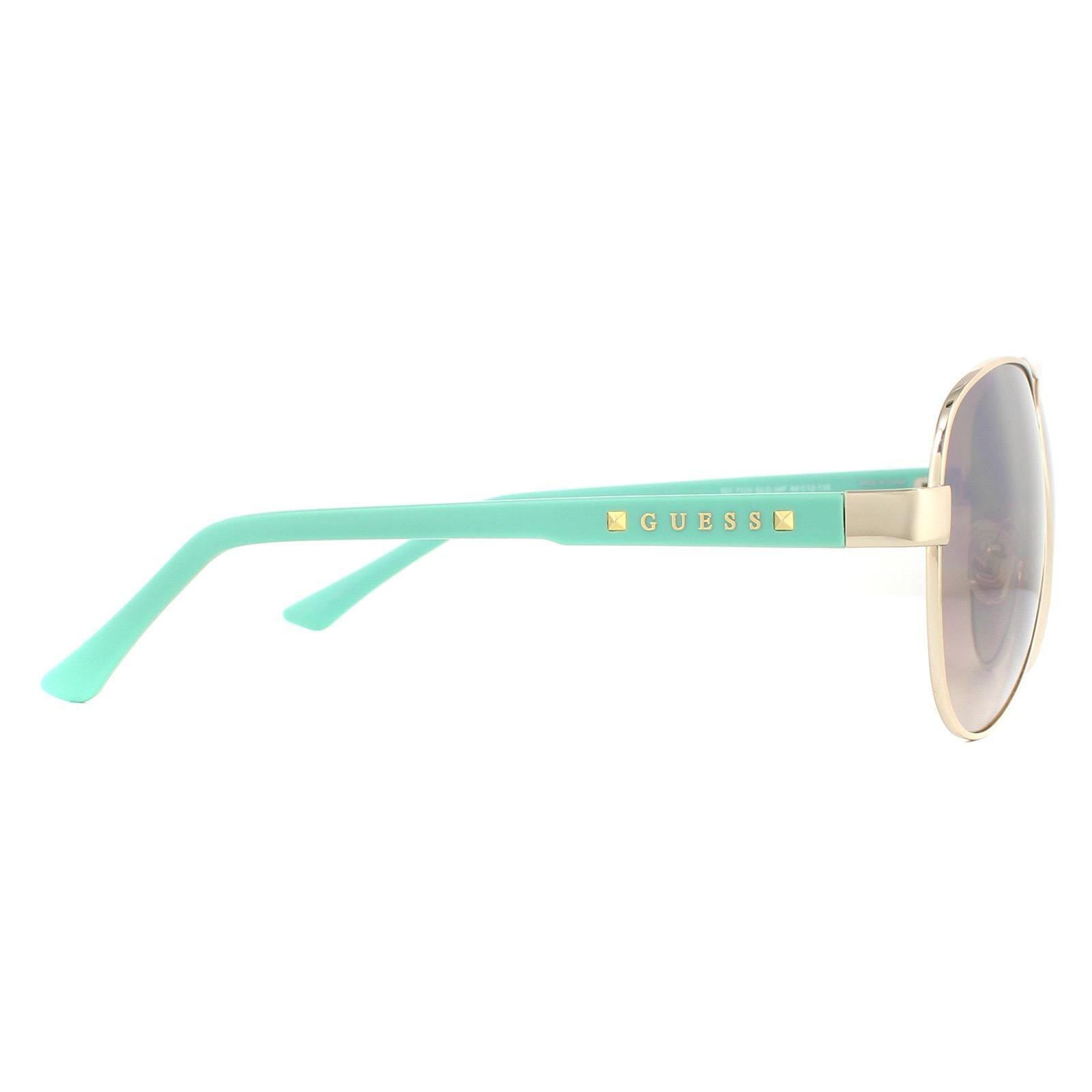 Guess Sunglasses GU7325 GLD-34F Gold Aqua Brown Gradient