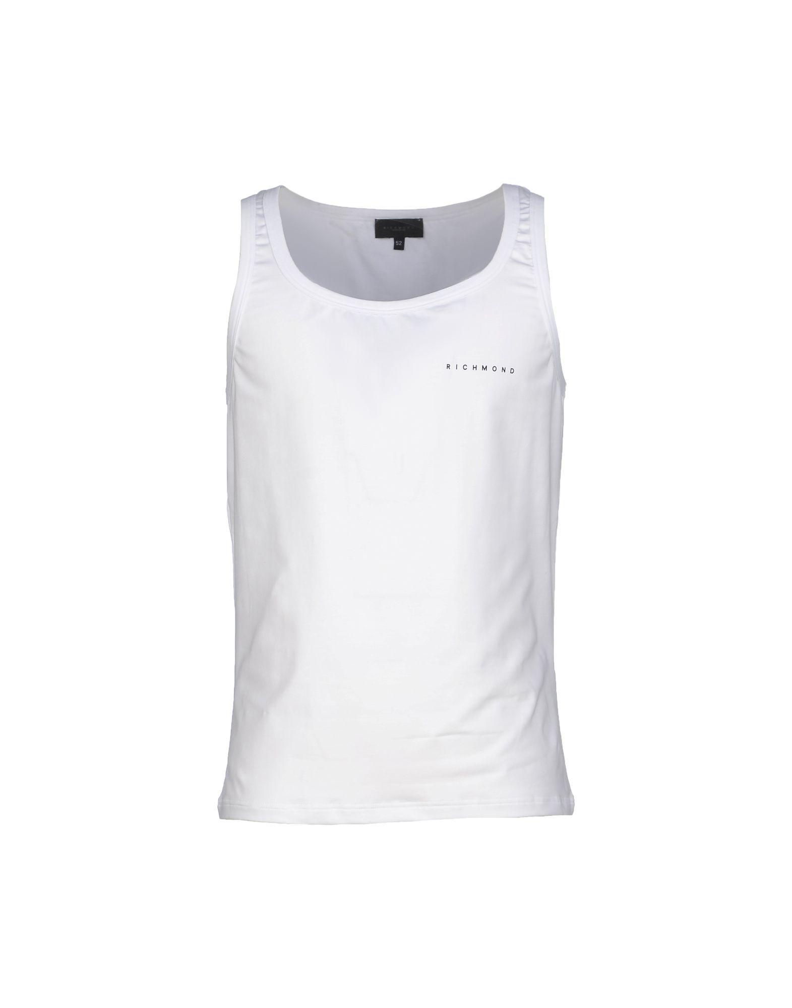 John Richmond Underwear White Cotton Tank