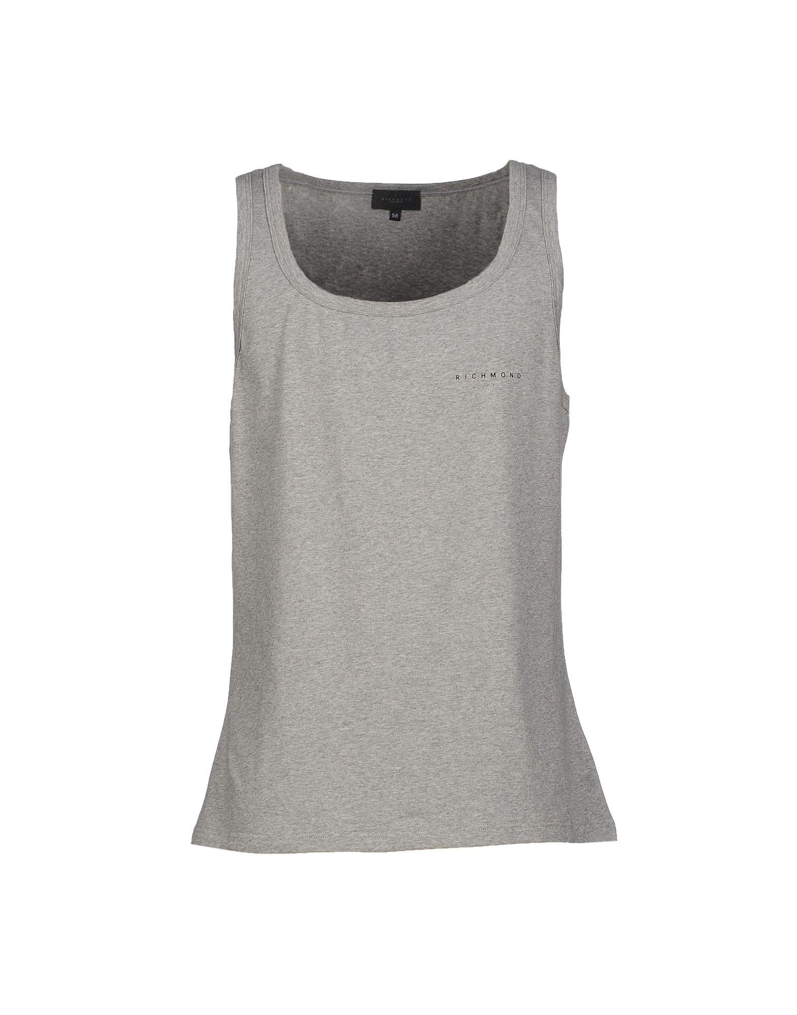 John Richmond Underwear Grey Cotton Jersey Vest