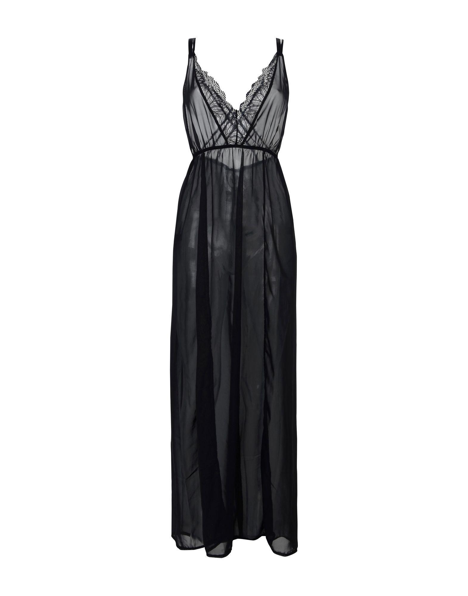 Bluebella Black Lace And Chiffon Full Length Nightdress