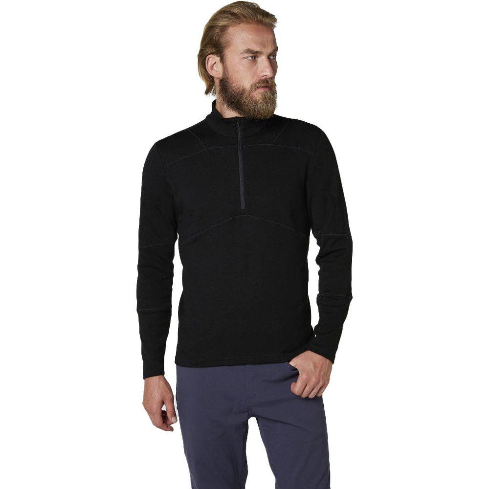Helly Hansen Mens Lifa Merino Wool Long Sleeve 1/2 Zip Baselayer Top