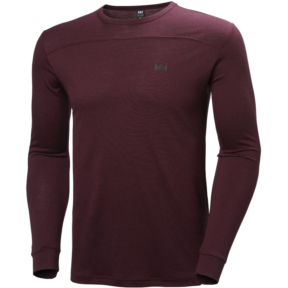 Helly Hansen Mens Merino Wool Mid Long Sleeve Stretch Baselayer Top