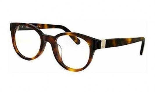 Chloe Rectangular plastic Women Eyeglasses Havana / Clear Lens