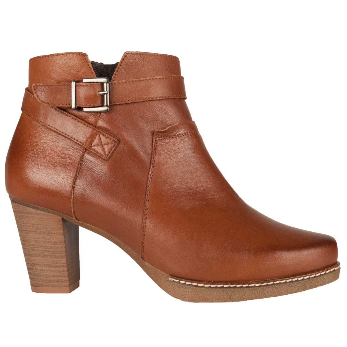 Montevita Buckle Ankle Boot in Brown