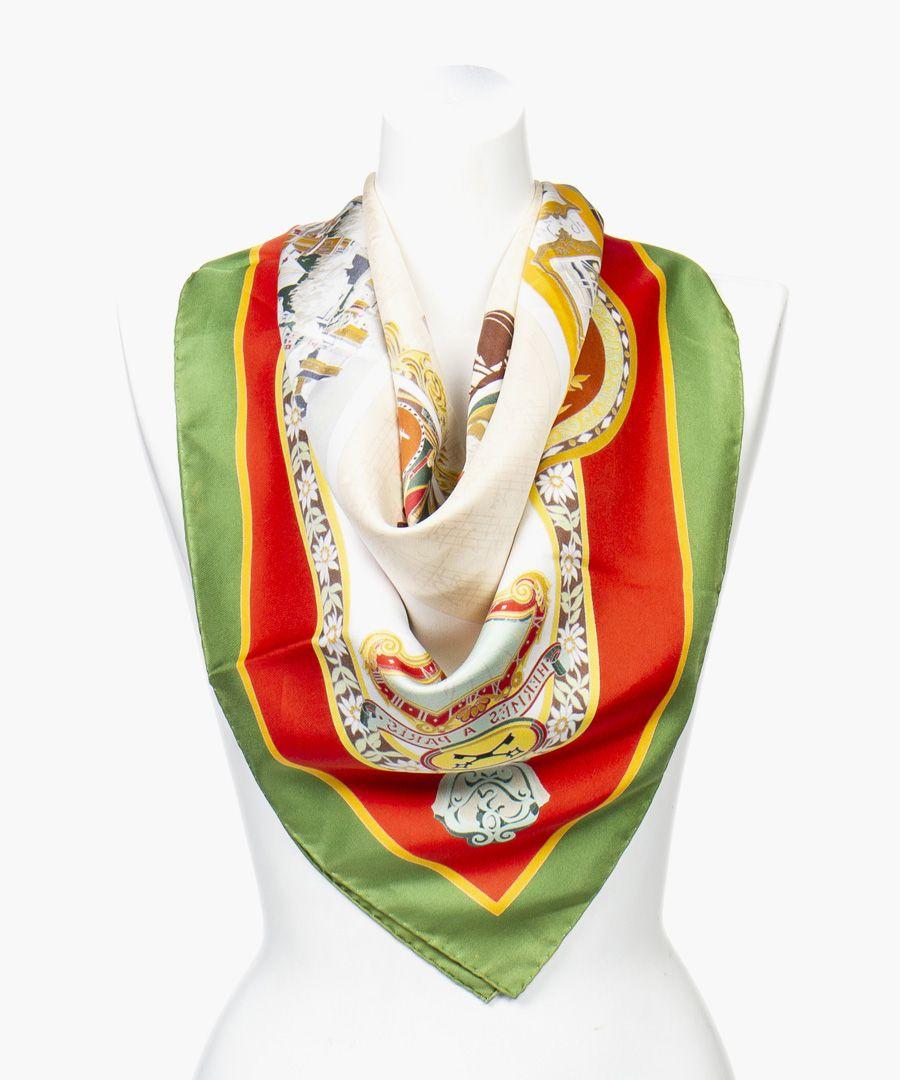 Salzburg silk twill scarf