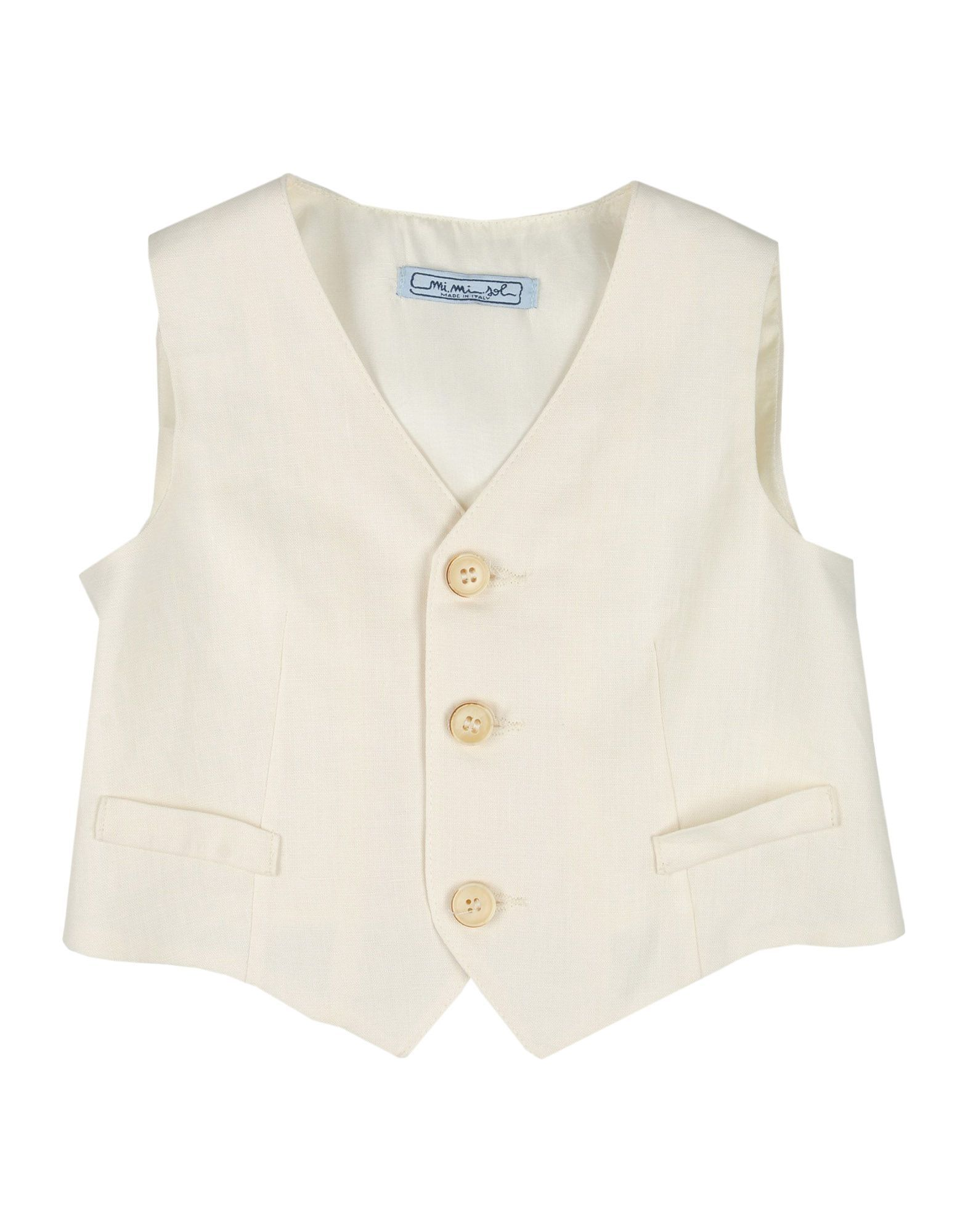 SUITS AND JACKETS Mimisol Ivory Boy Linen