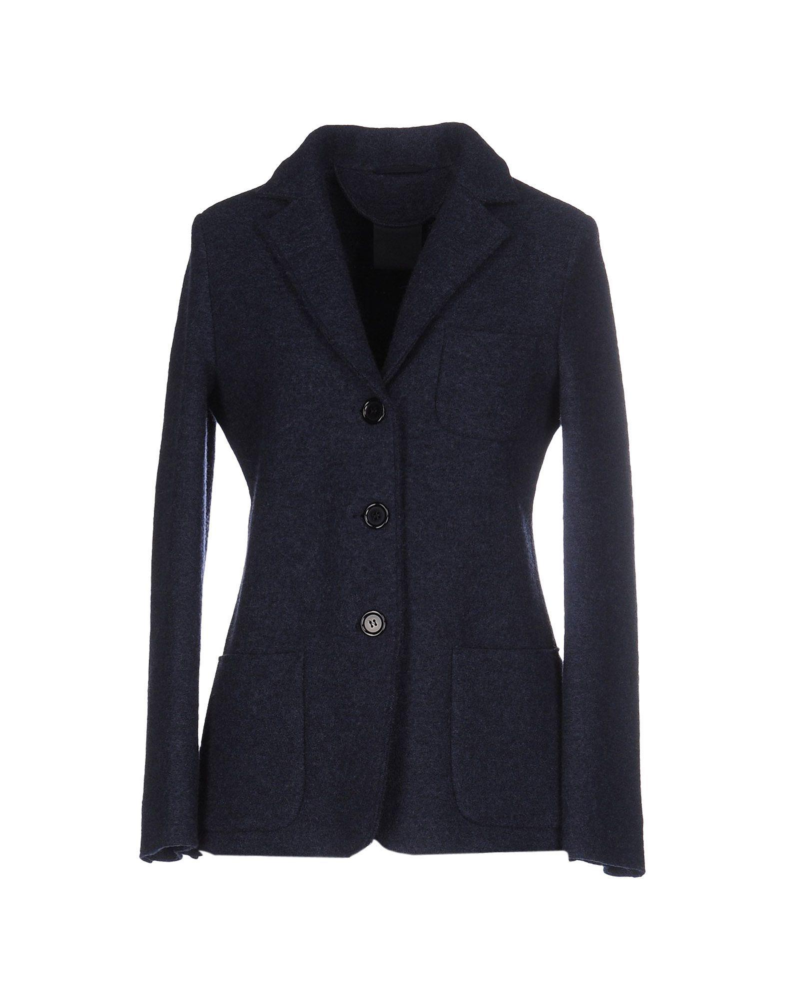 Aspesi Dark Blue Wool Single Breasted Blazer