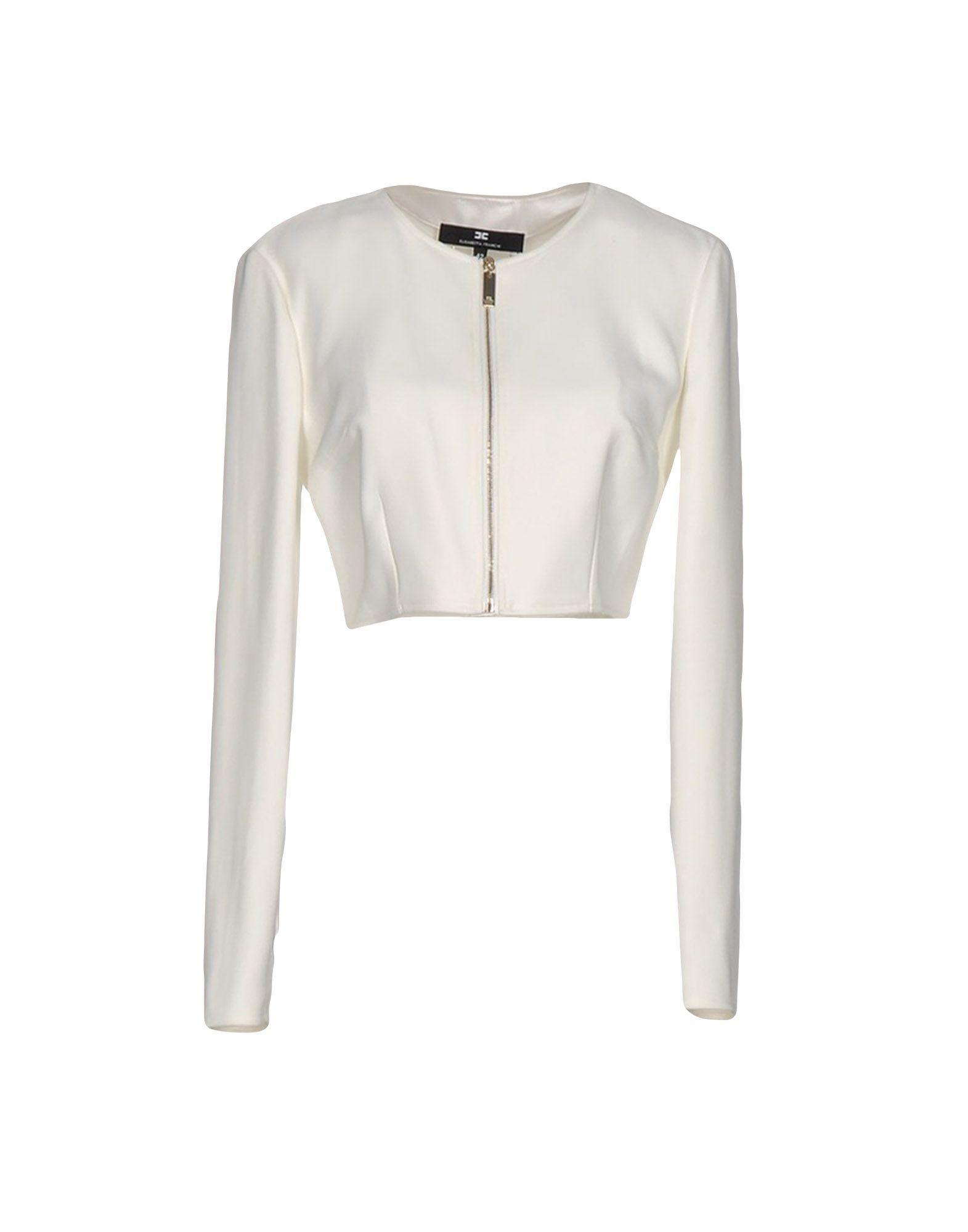 Elisabetta Franchi Ivory Cropped Jacket
