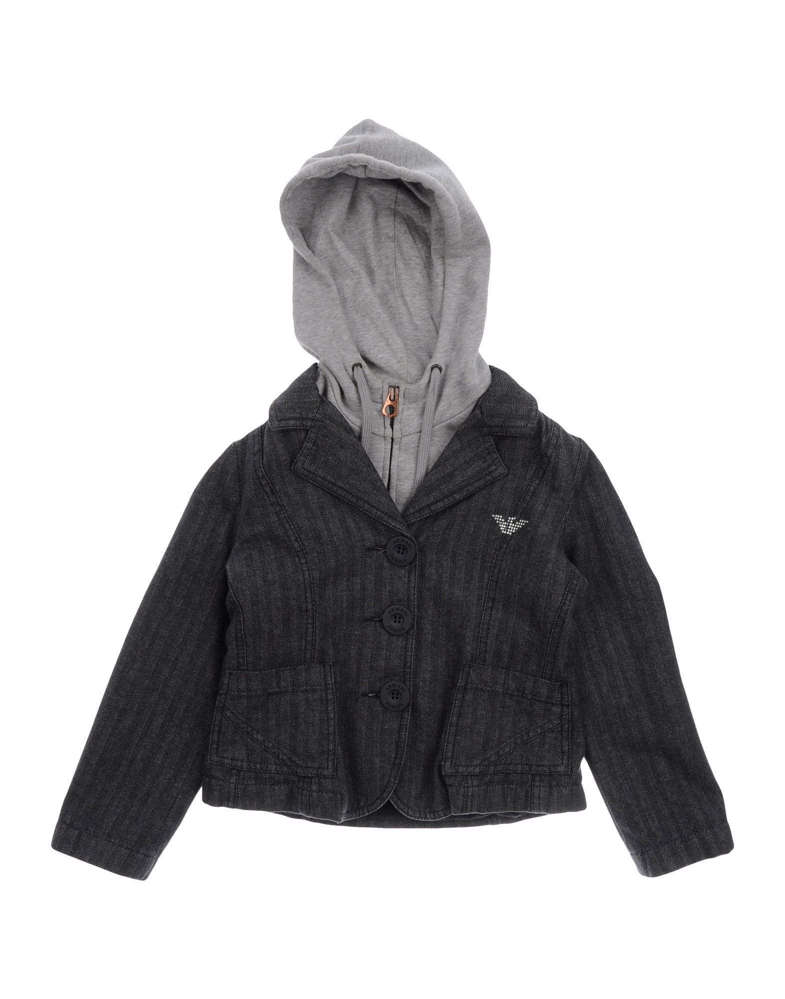 SUITS AND JACKETS Armani Junior Steel grey Boy Cotton