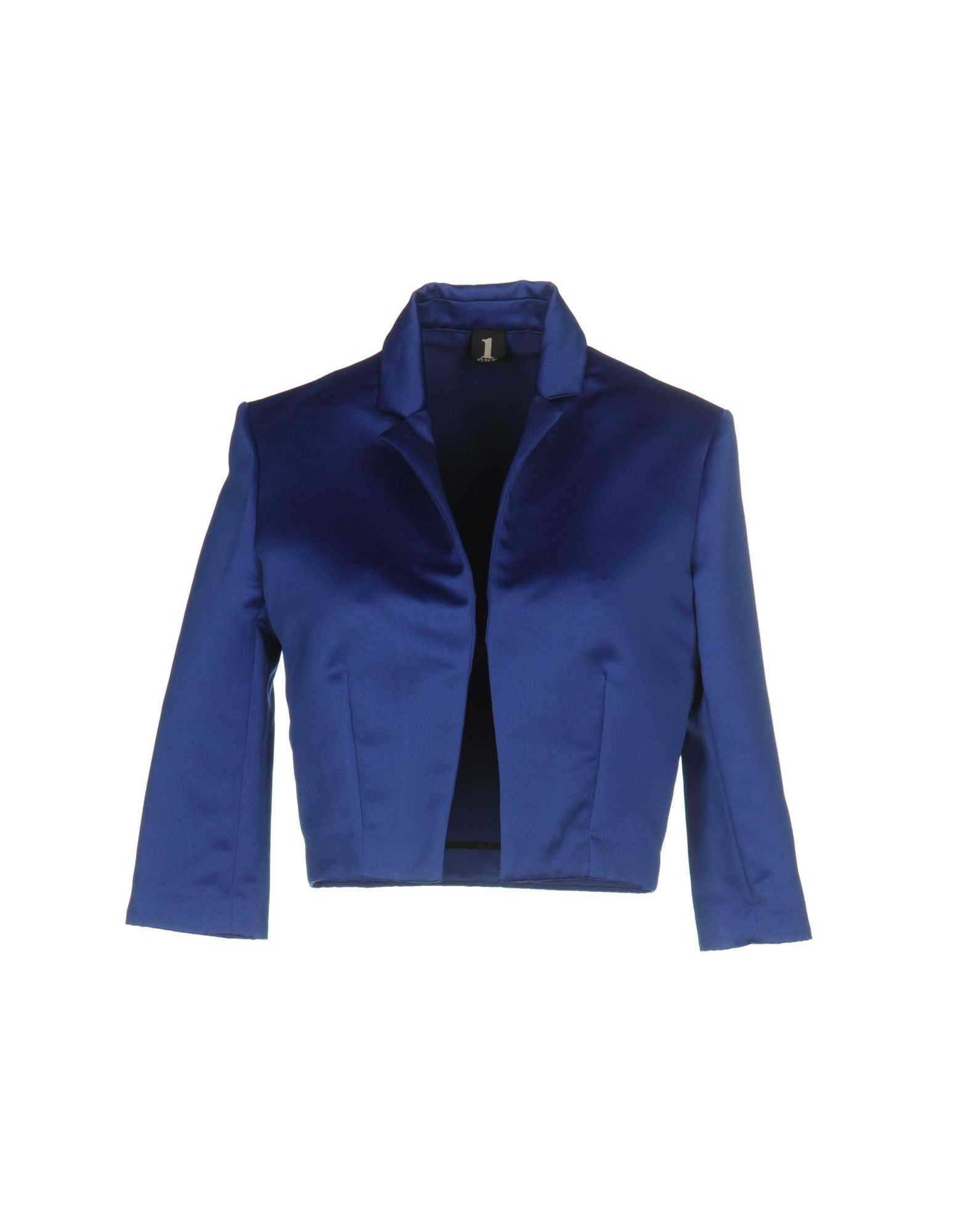SUITS AND JACKETS 1-One Bright blue Woman Polyester