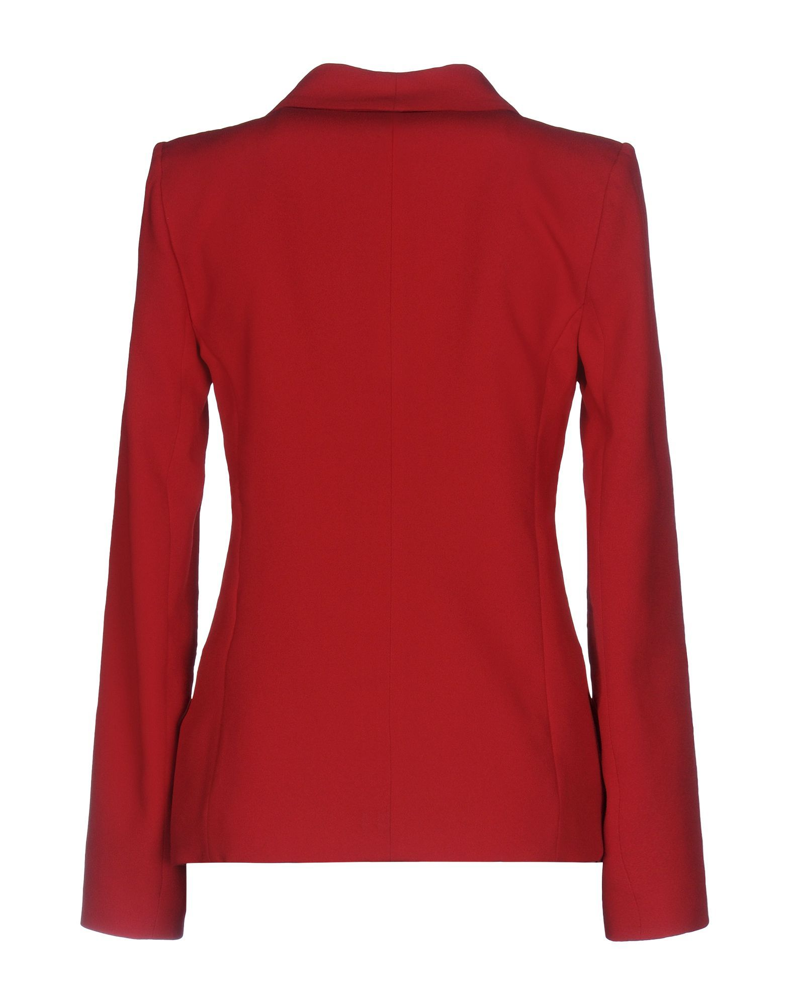 Patrizia Pepe Red Crepe Single Breasted Jacket