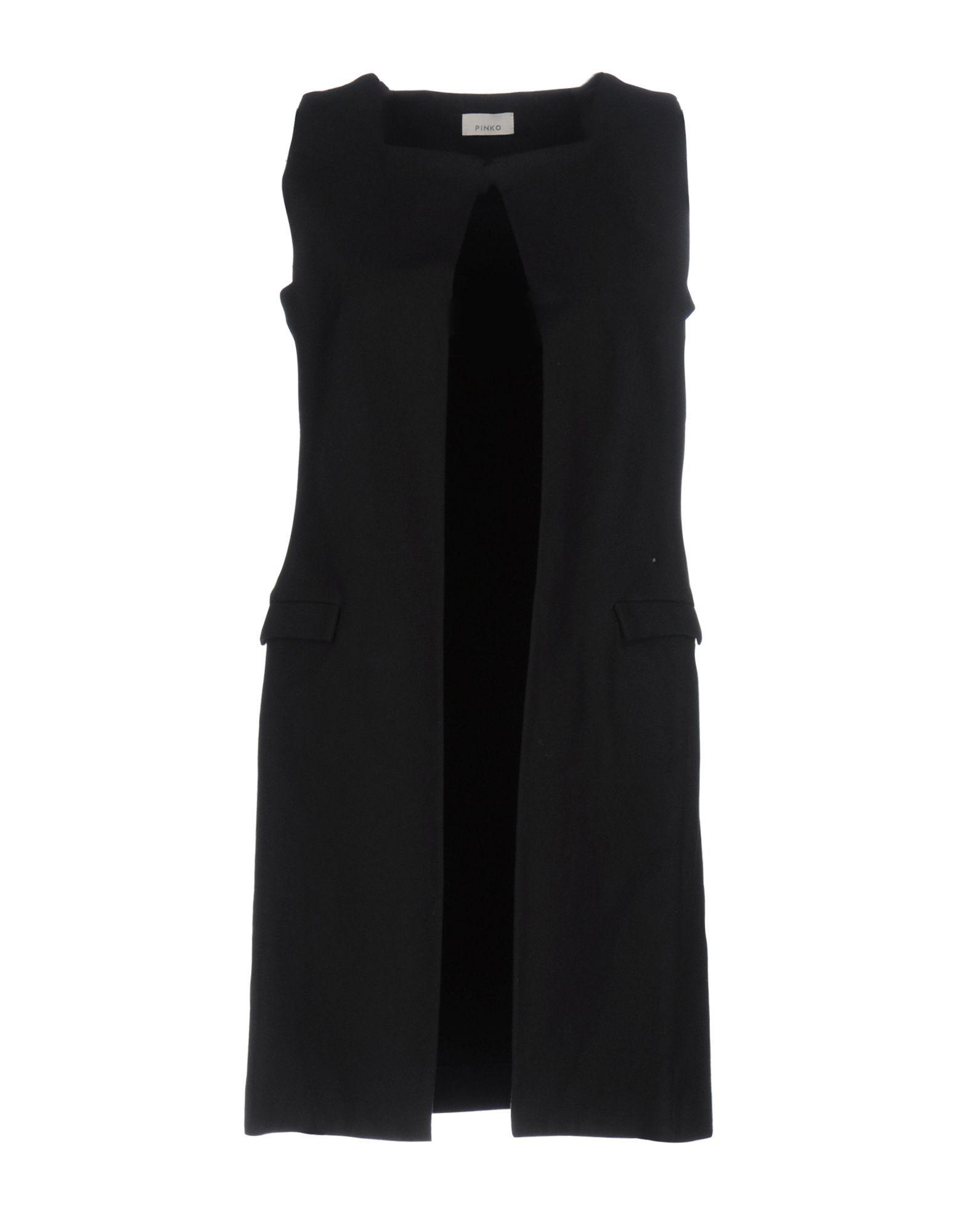 Pinko Black Wool Single Breasted Sleeveless Jacket