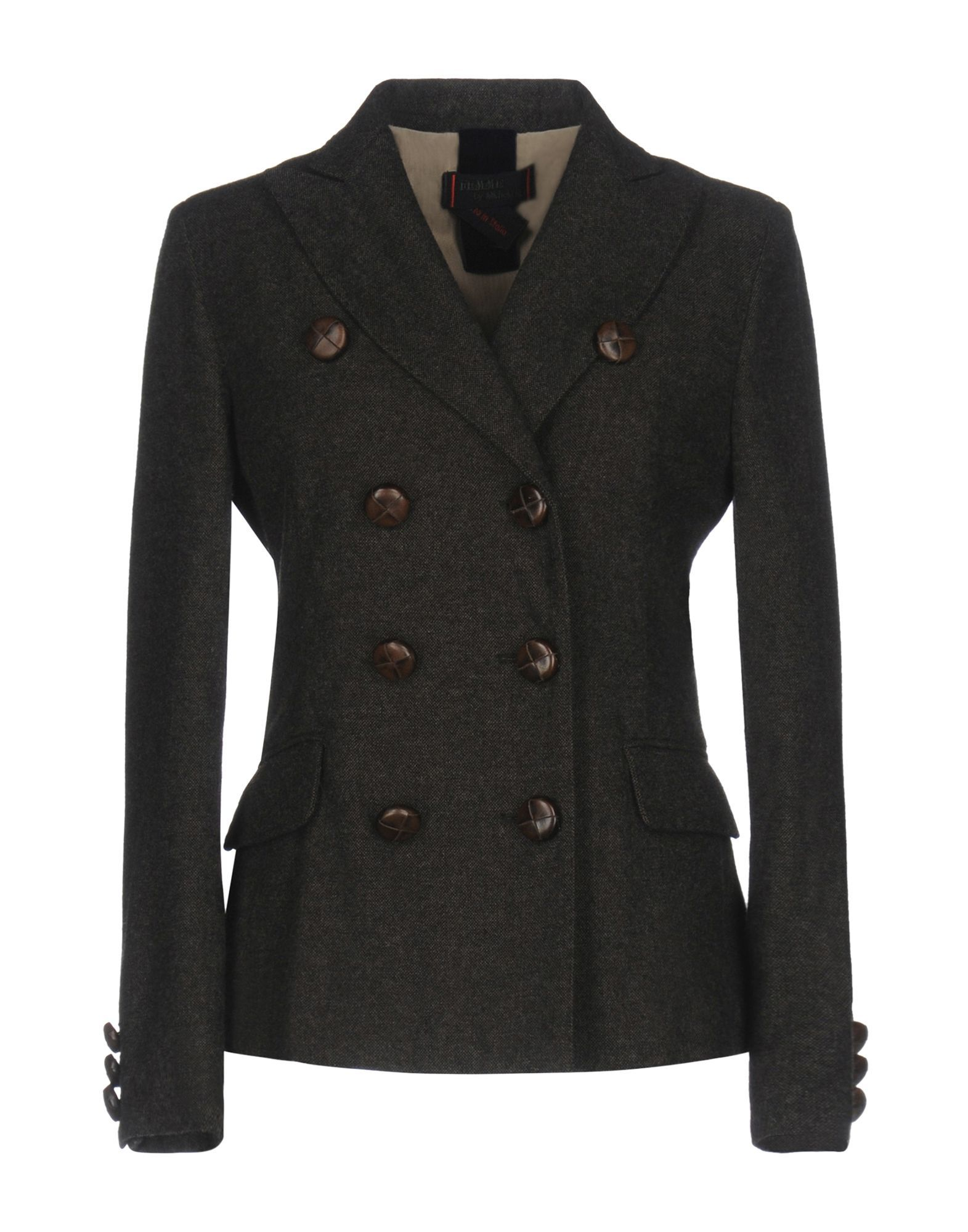 SUITS AND JACKETS Femme By Michele Rossi Dark brown Woman Wool